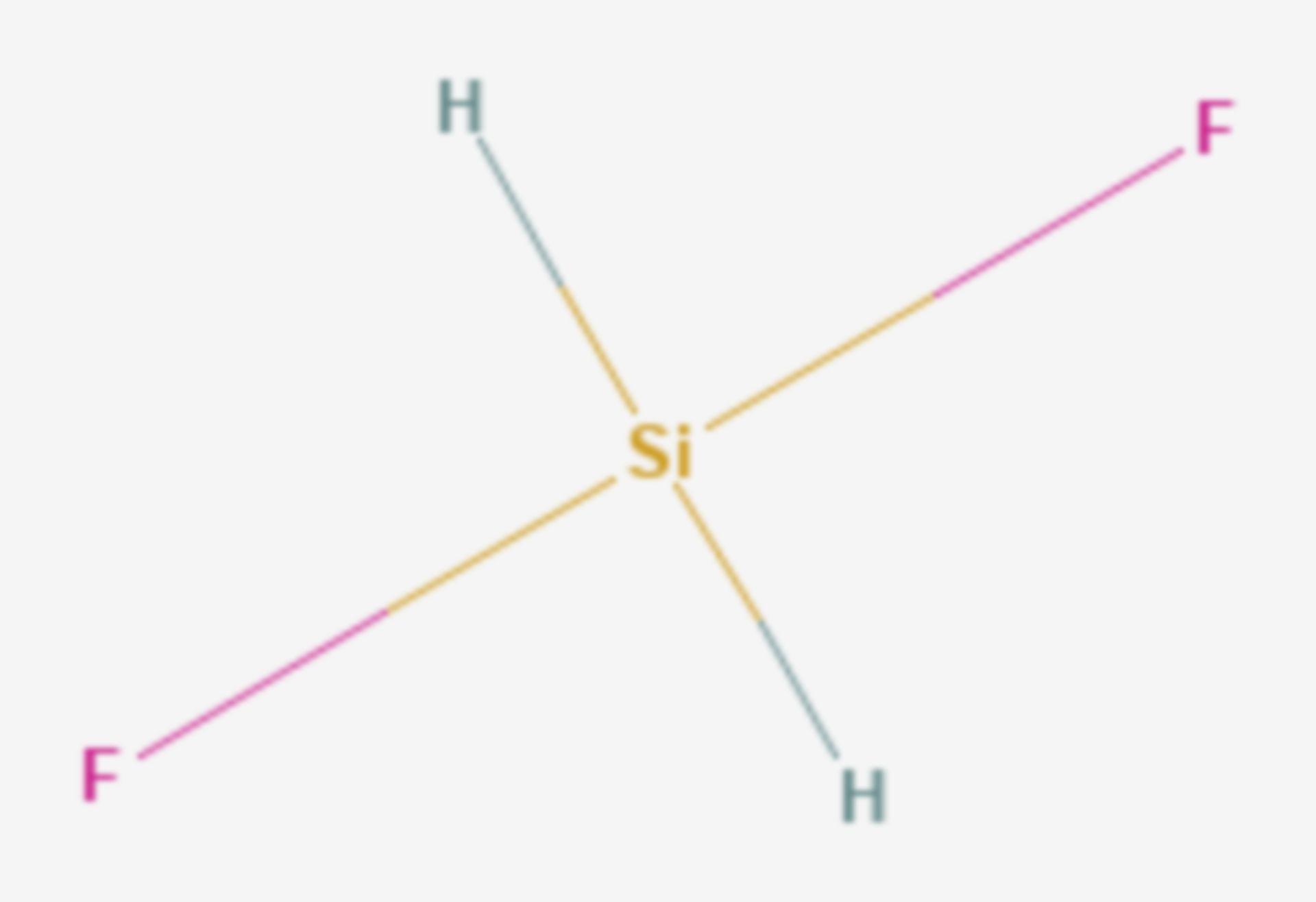 Difluorsilan (Strukturformel)