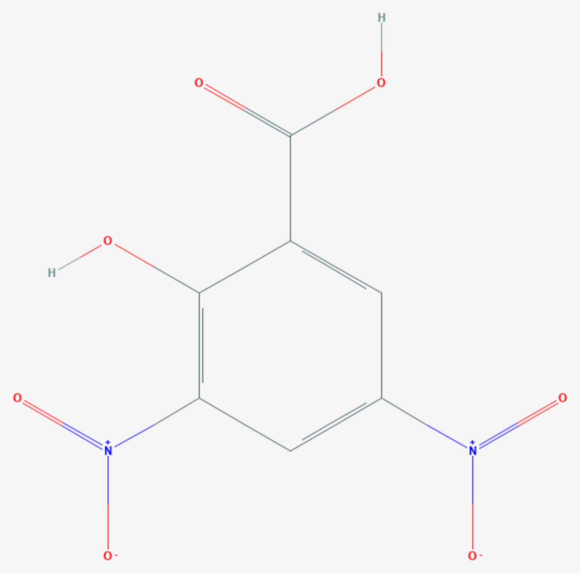 3,5-Dinitrosalicylsäure (Strukturformel)
