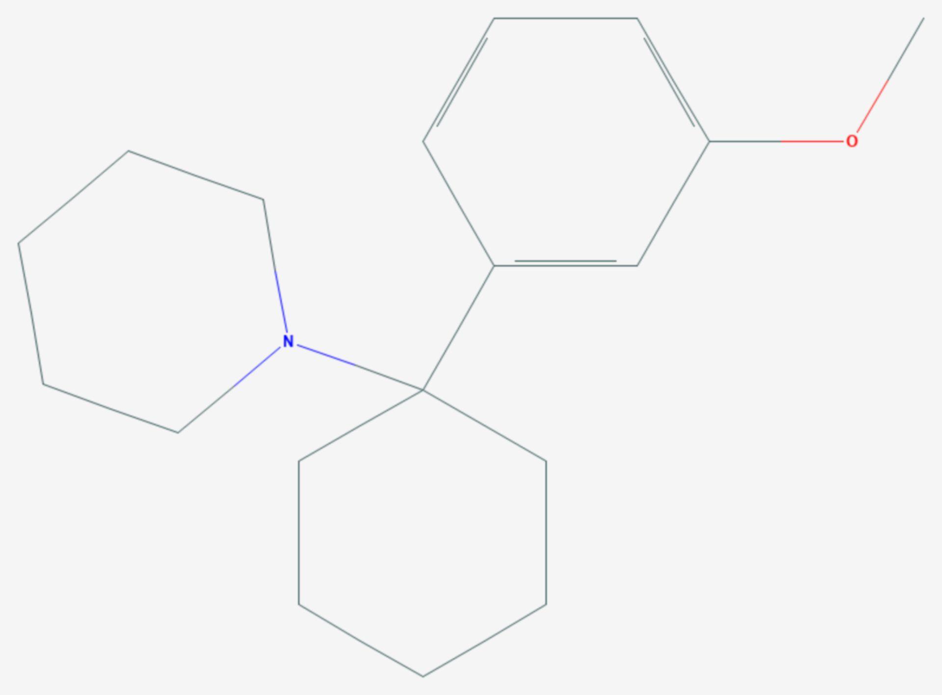 3-Methoxyphencyclidin (Strukturformel)