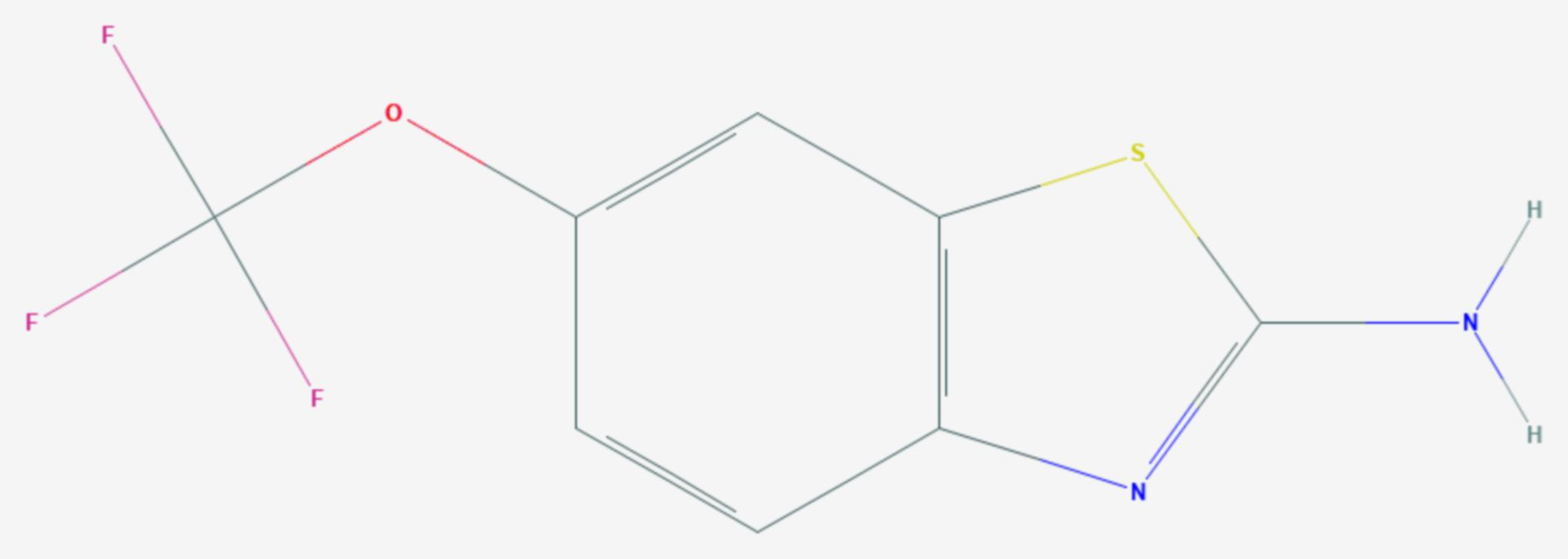 Riluzol (Strukturformel)