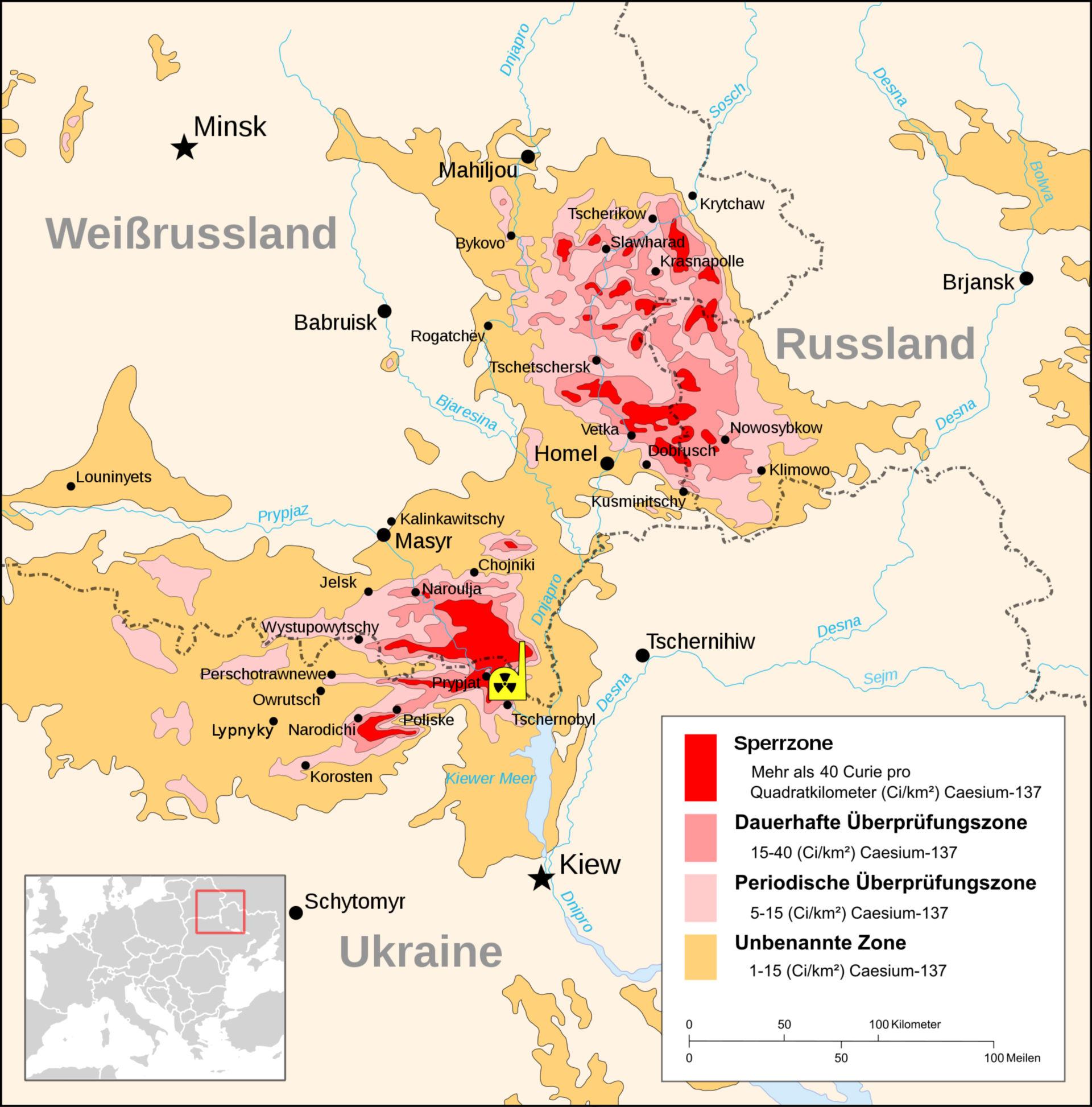 Tchernobyl radiation 1996