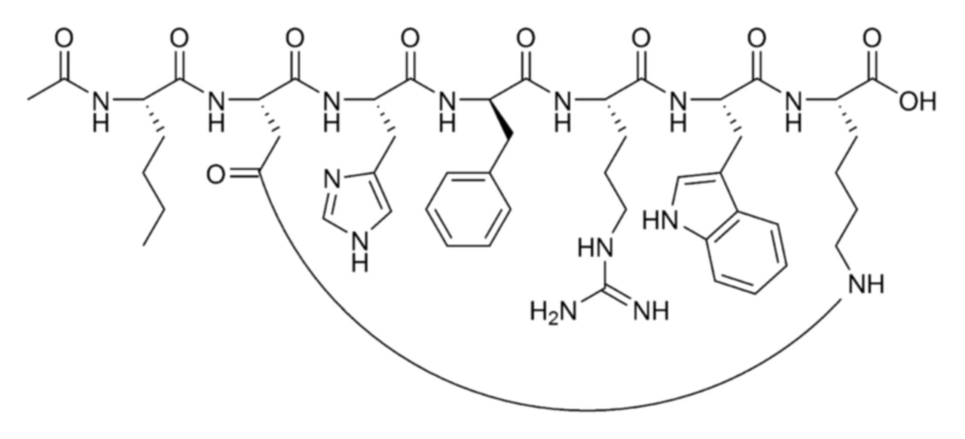 Bremelanotid Strukturformel