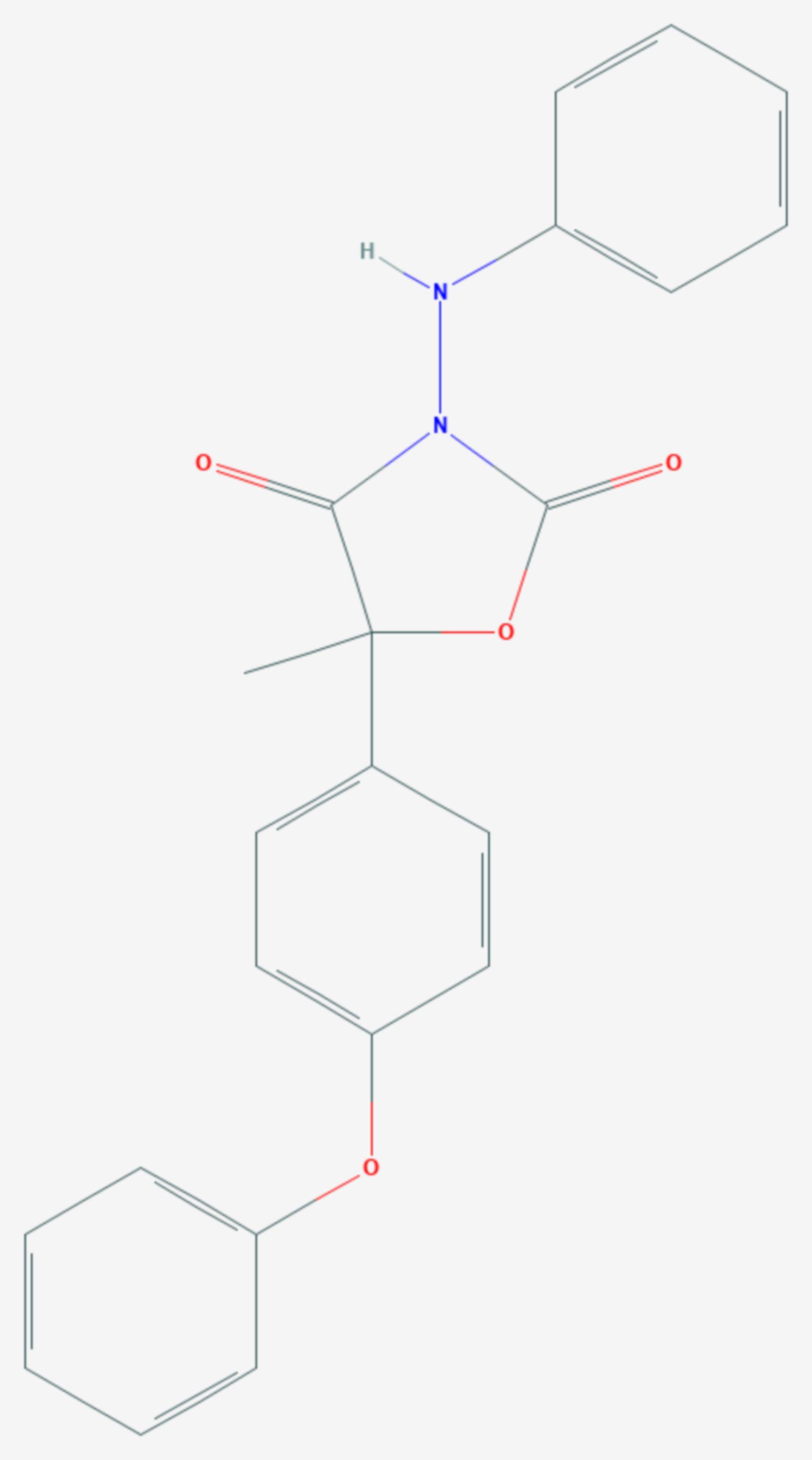 Famoxadon (Strukturformel)