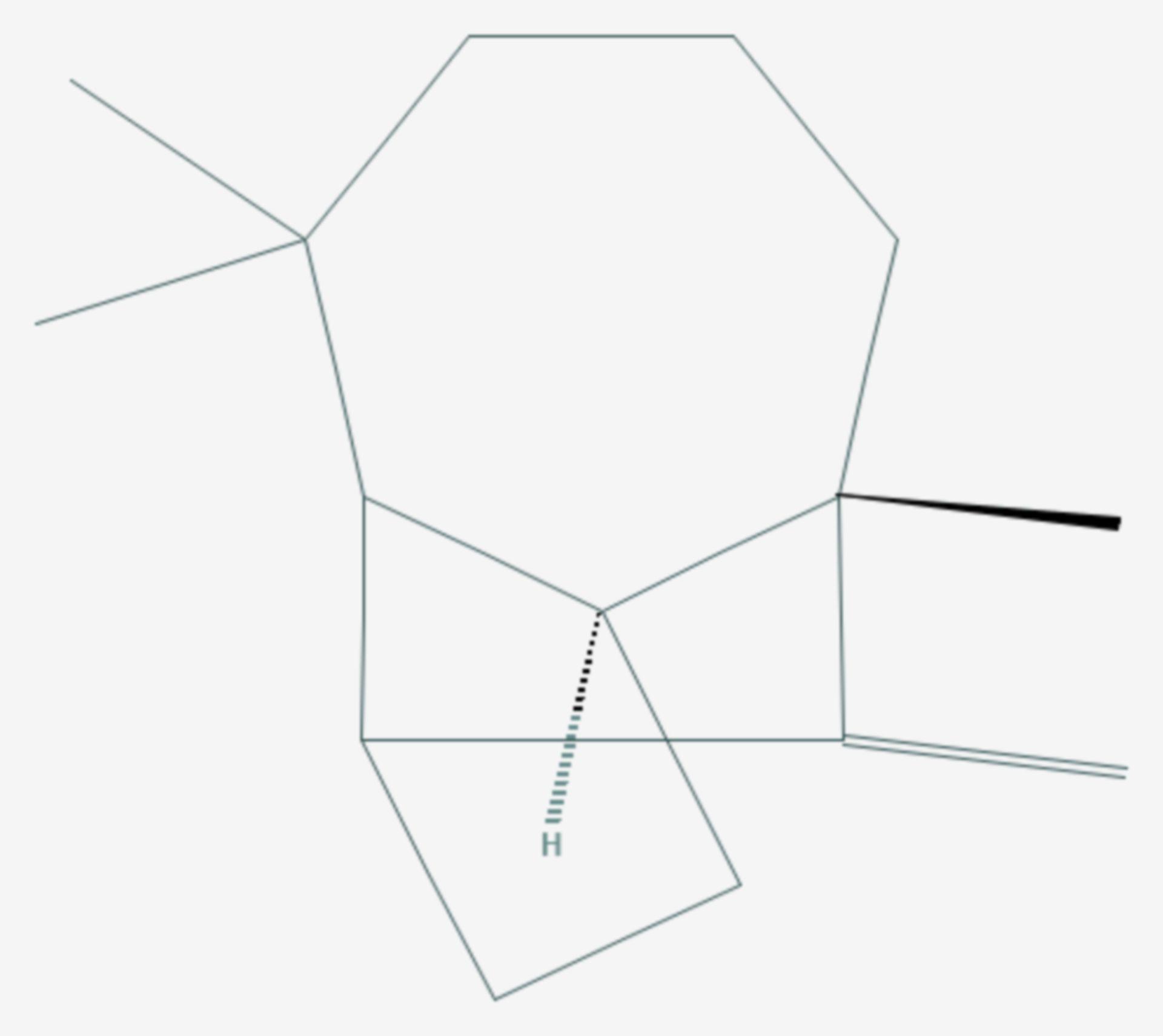 Longifolen (Strukturformel)