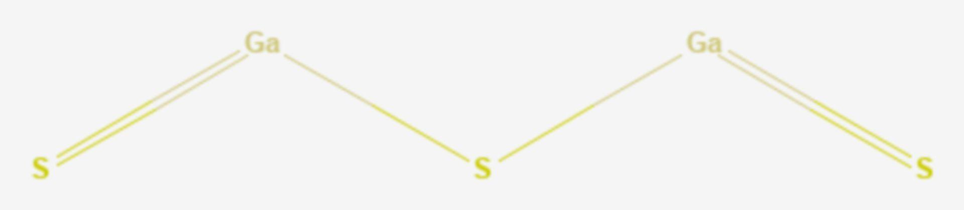 Gallium(III)-sulfid (Strukturformel)