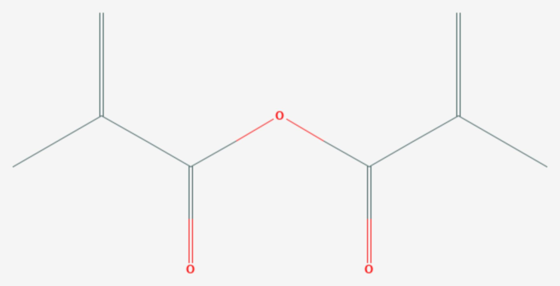 Methacrylsäureanhydrid (Strukturformel)