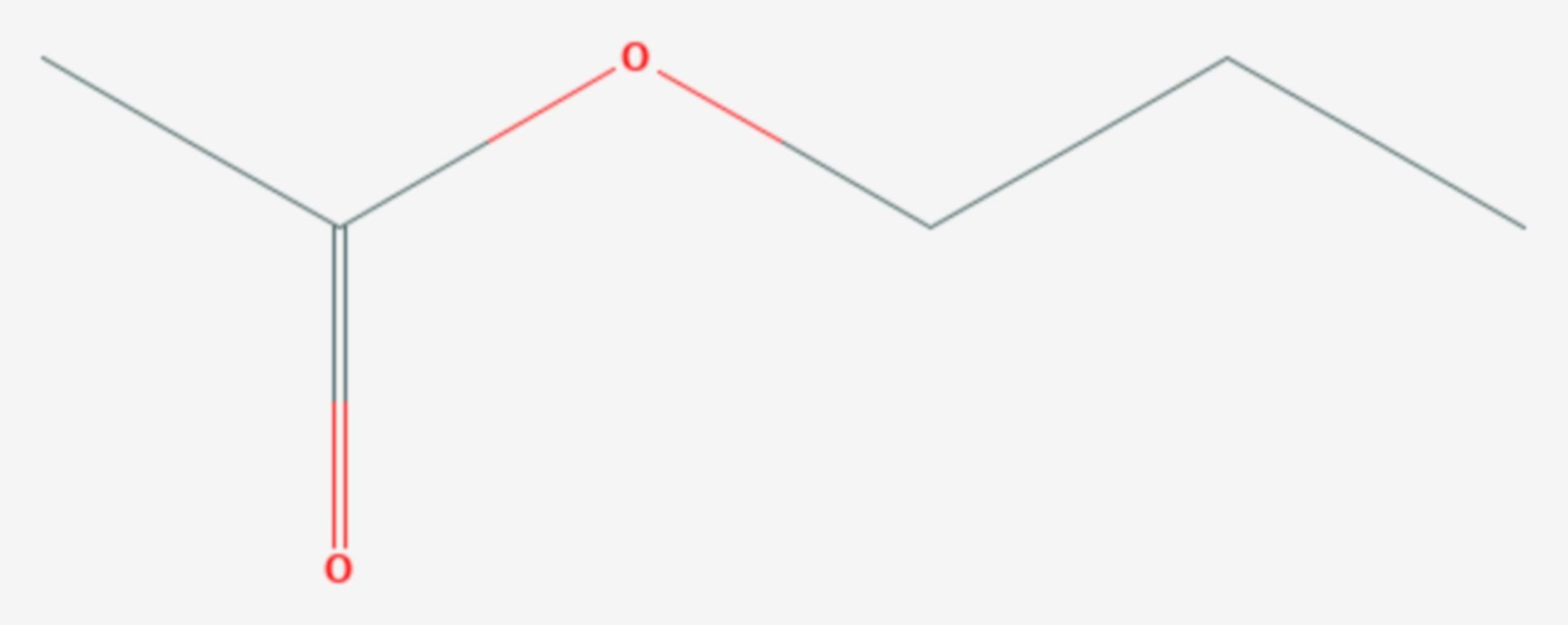Essigsäure-n-propylester (Strukturformel)