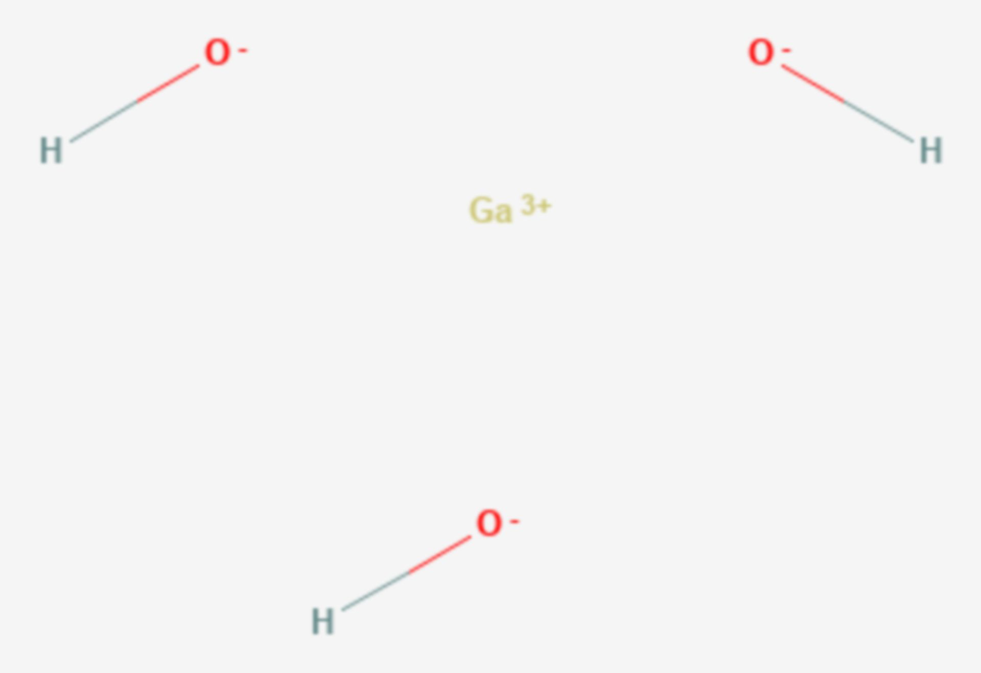 Galliumhydroxid (Strukturformel)