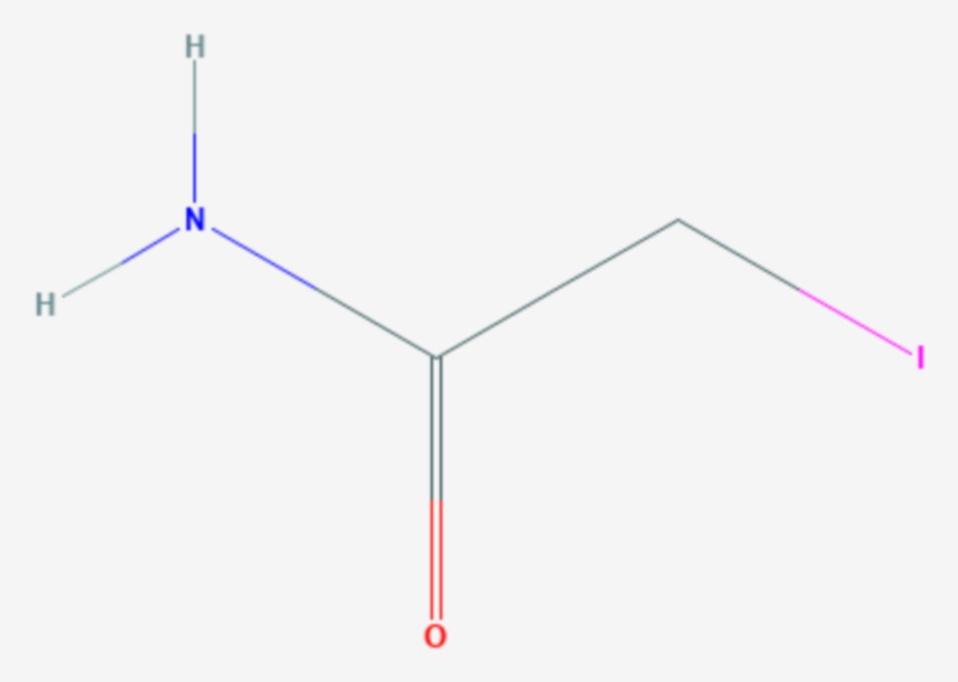 Iodacetamid (Strukturformel)