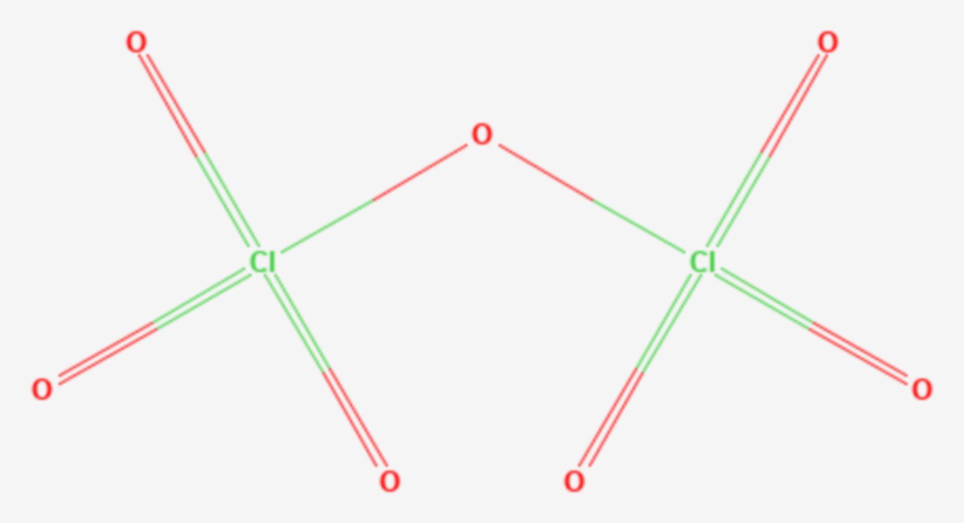 Dichlorheptaoxid (Strukturformel)