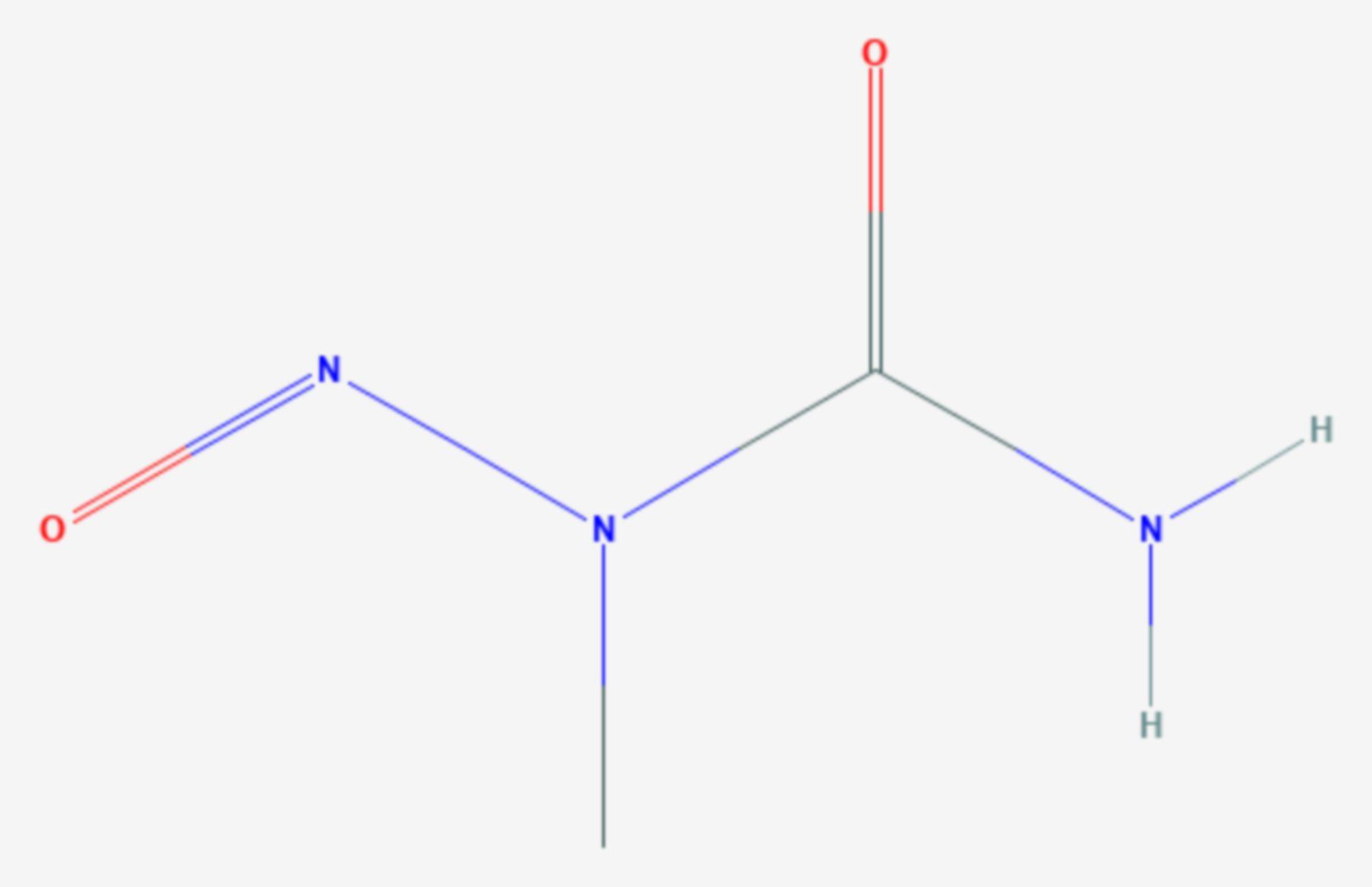 N-Methyl-N-nitrosoharnstoff (Strukturformel)