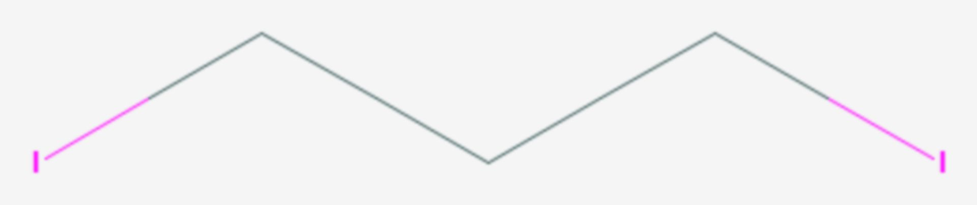 1,3-Diiodpropan (Strukturformel)