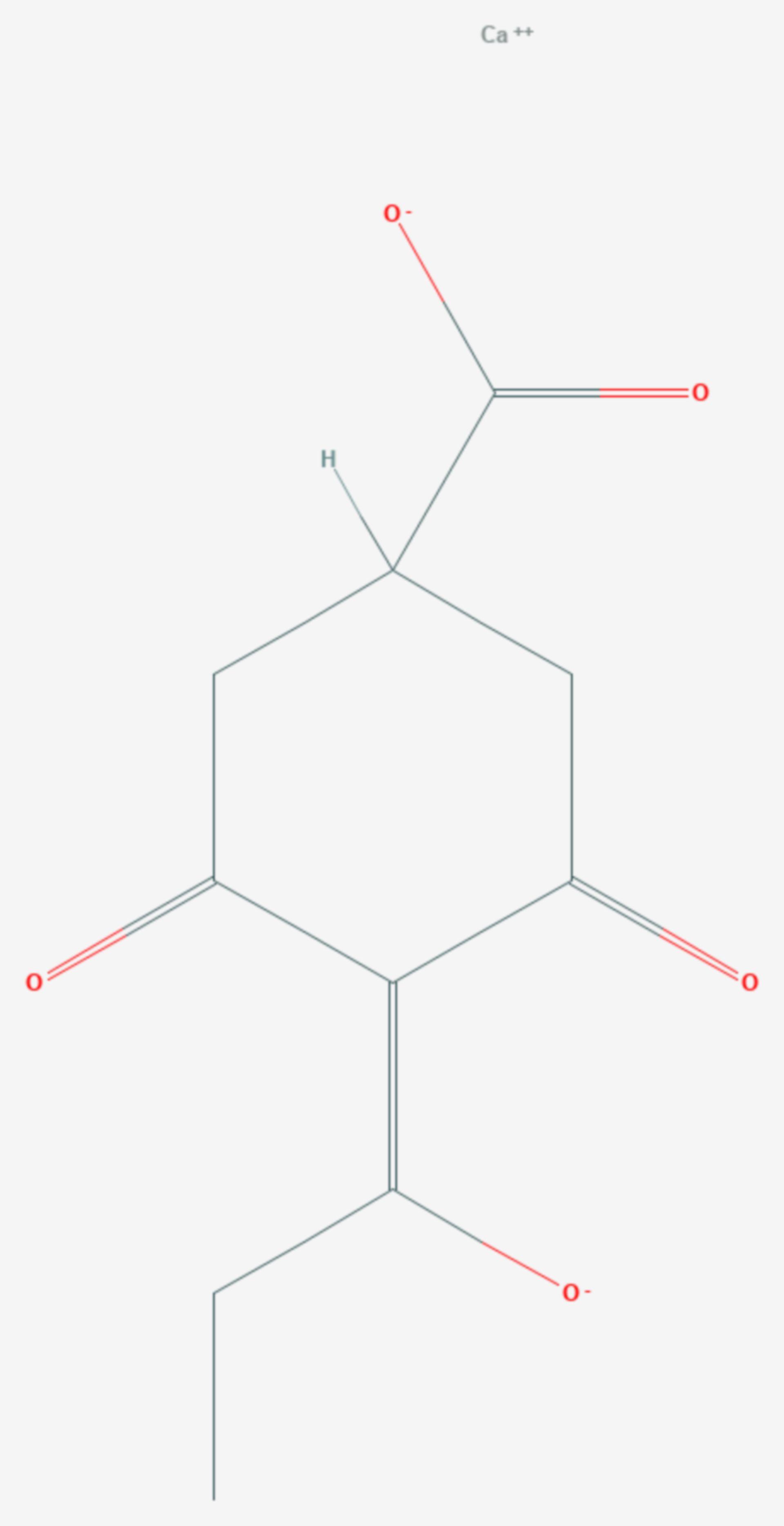 Prohexadion (Strukturformel)