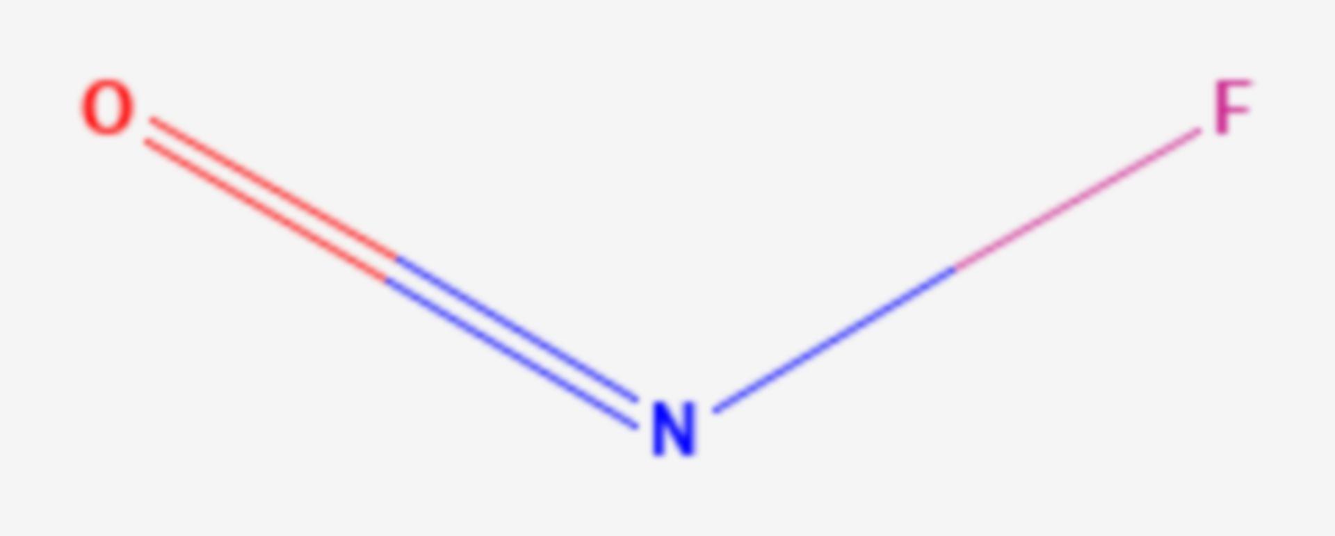 Nitrosylfluorid (Strukturformel)