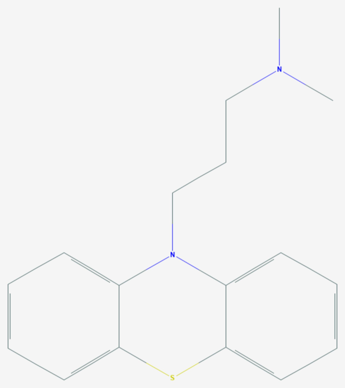 Promazin (Strukturformel)