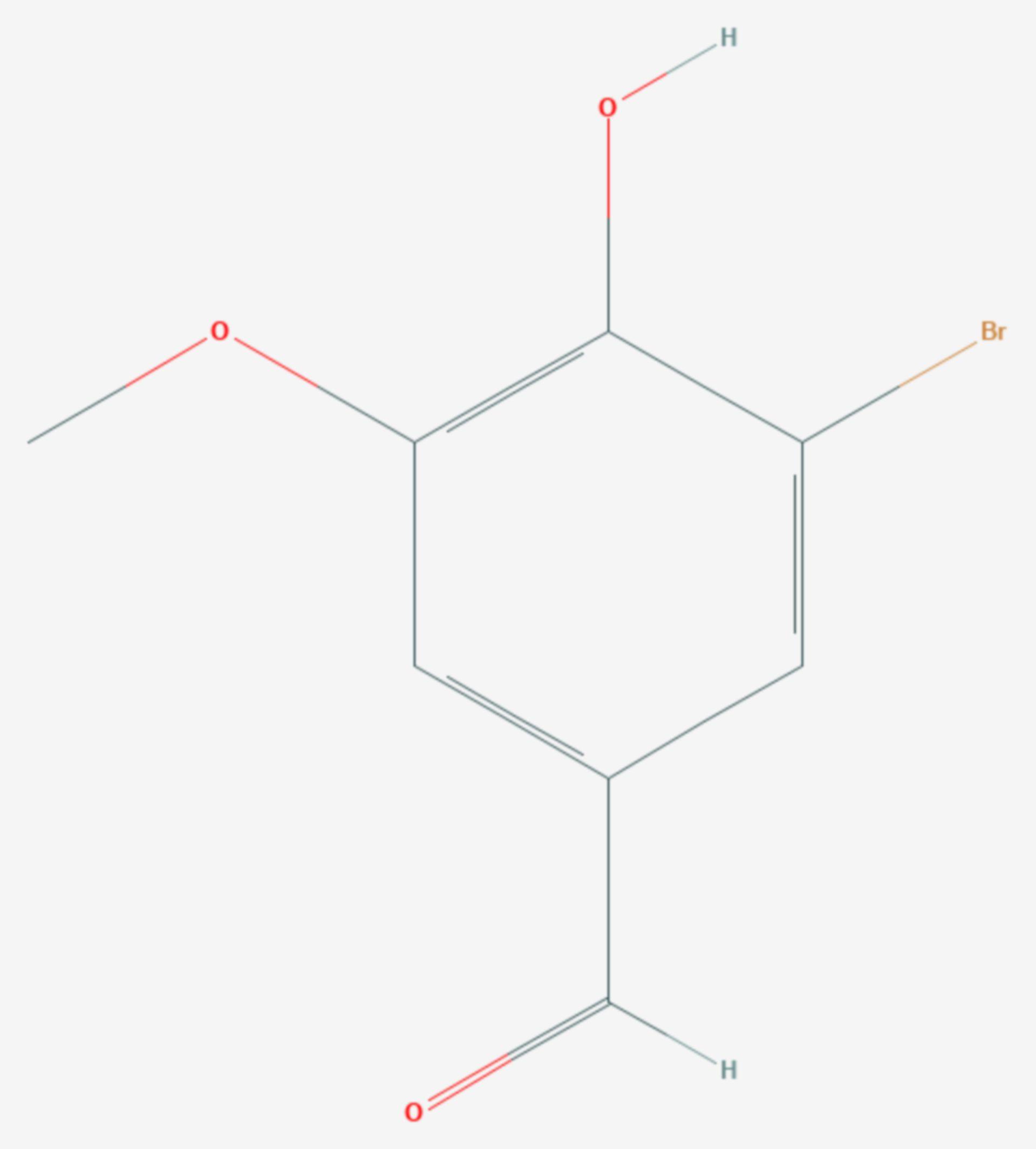 5-Bromvanillin (Strukturformel)