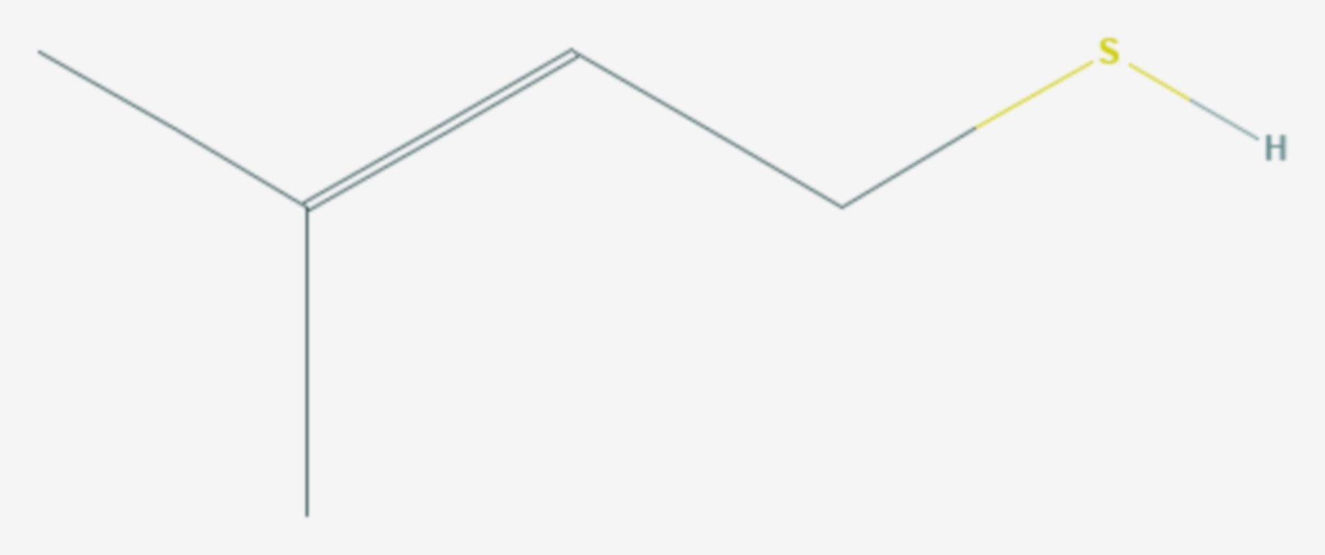 3-Methyl-2-buten-1-thiol (Strukturformel)