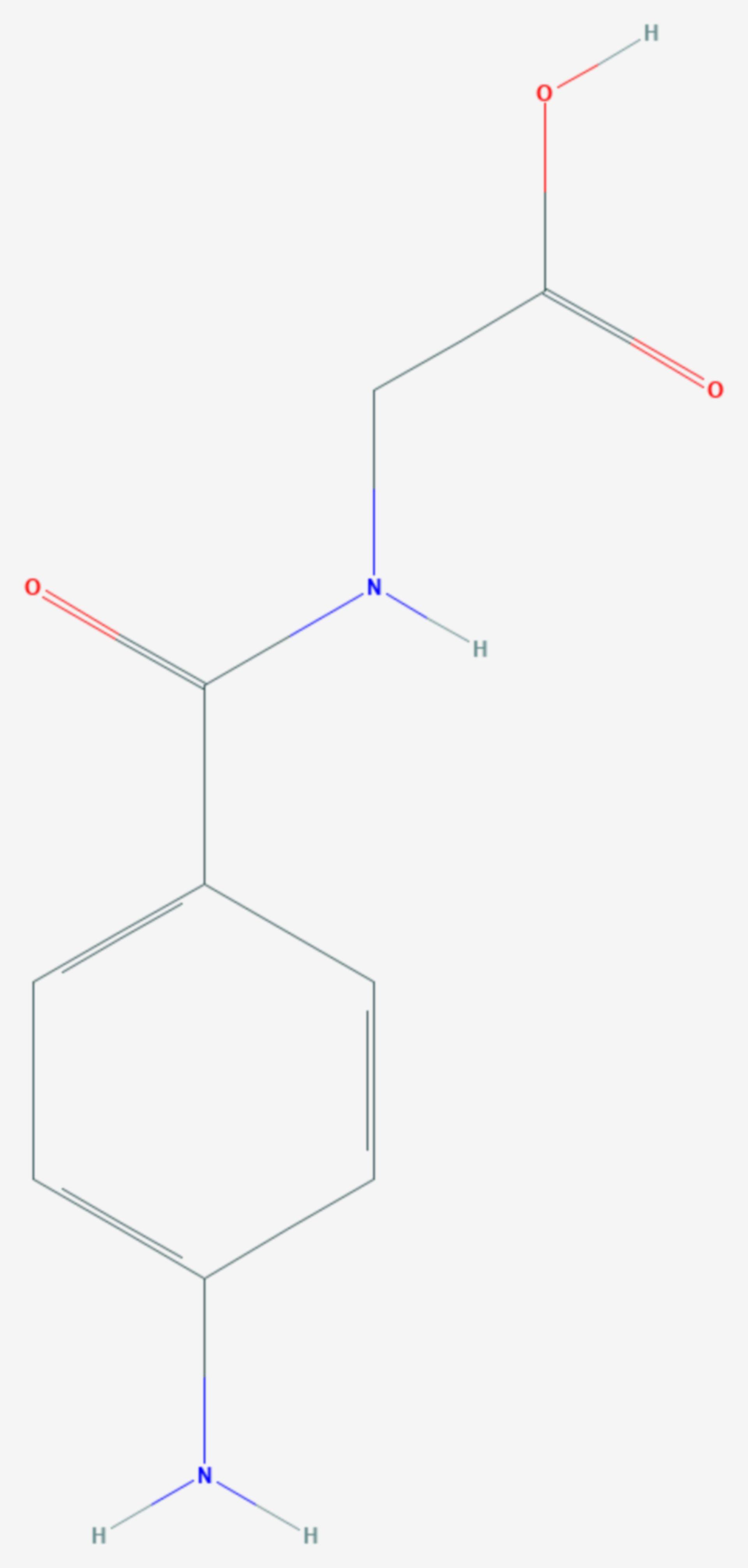 P-Aminohippursäure (Strukturformel)