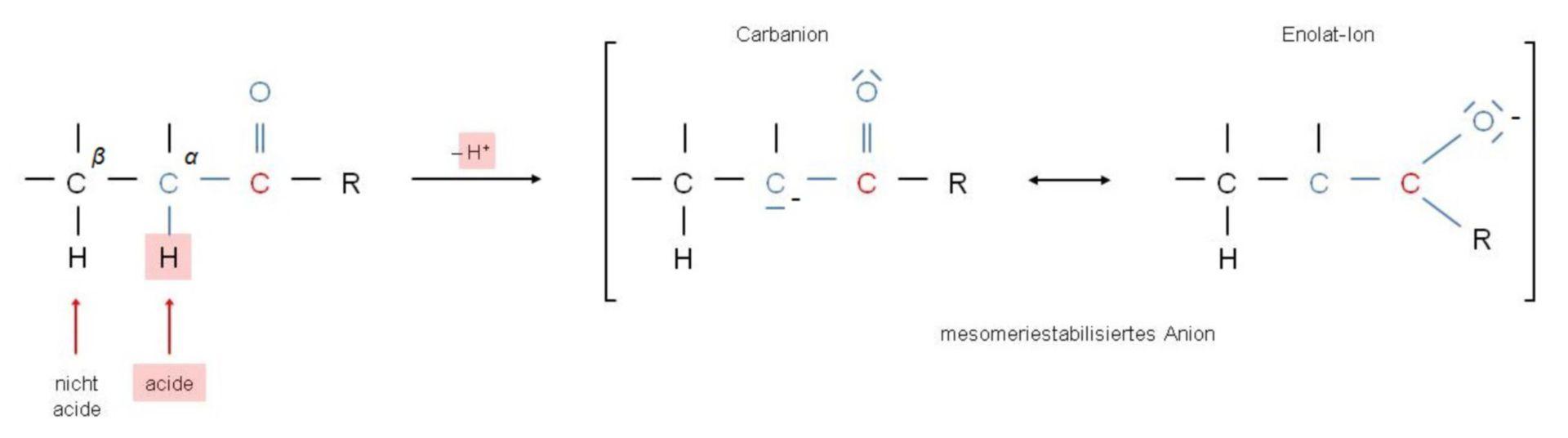Deprotonization at the alpha-C-atom