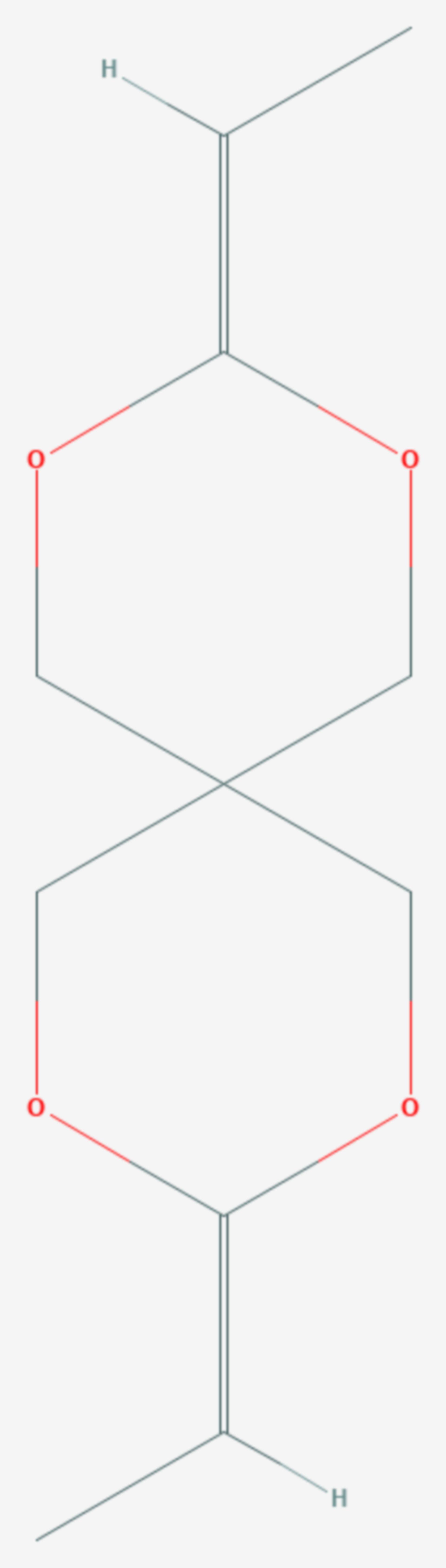 3,9-Diethyliden-2,4,8,10-tetraoxaspiro(5.5)undecan (Strukturformel)