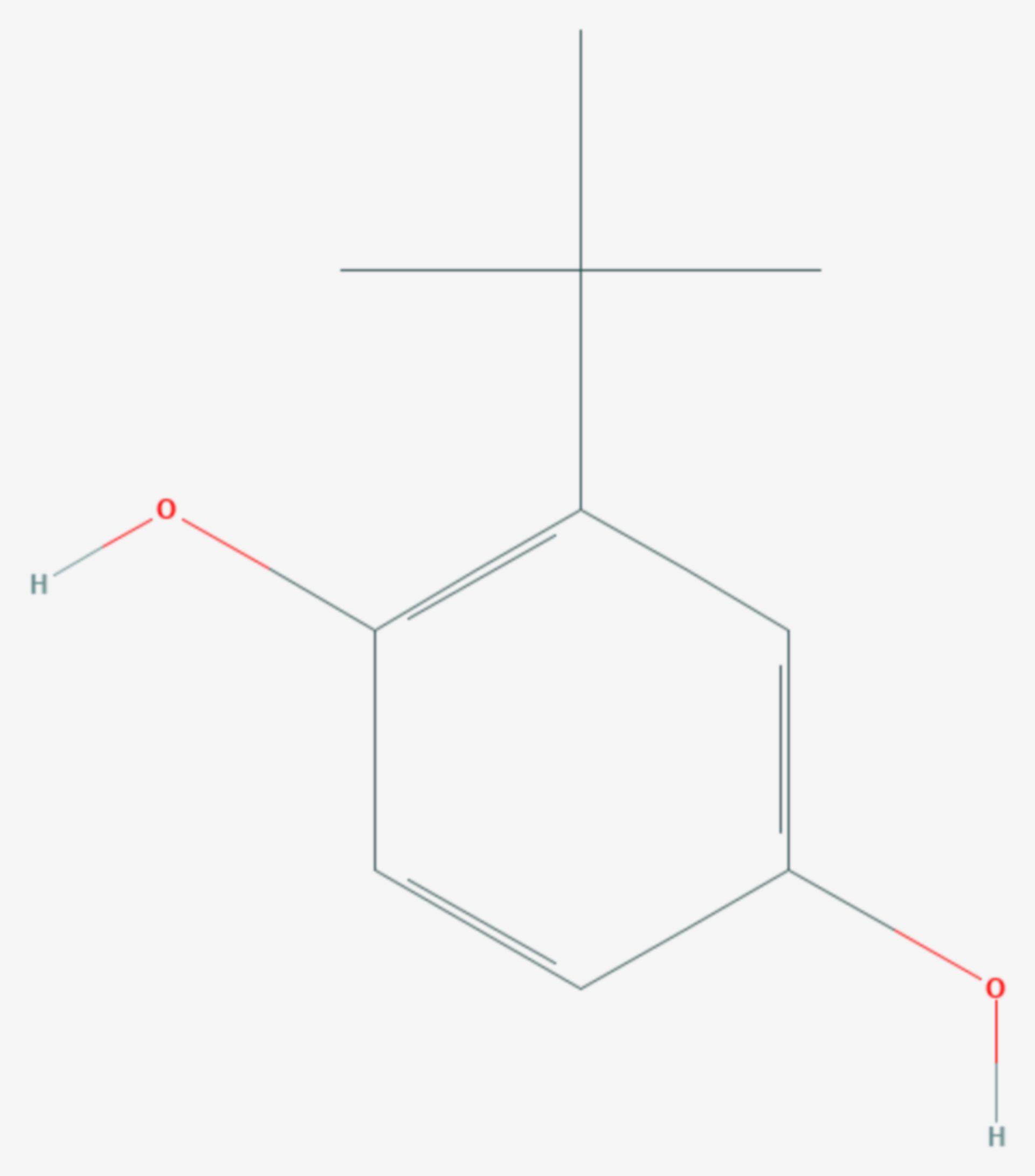 2-tert-Butylhydrochinon (Strukturformel)