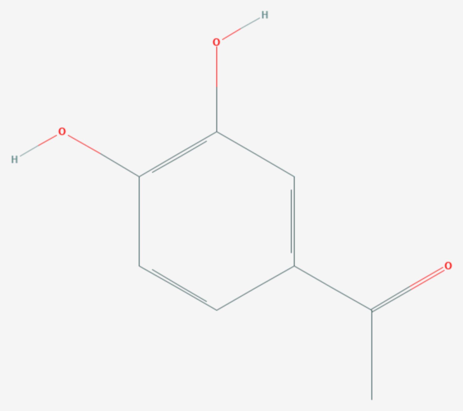 3,4-Dihydroxyacetophenon (Strukturformel)