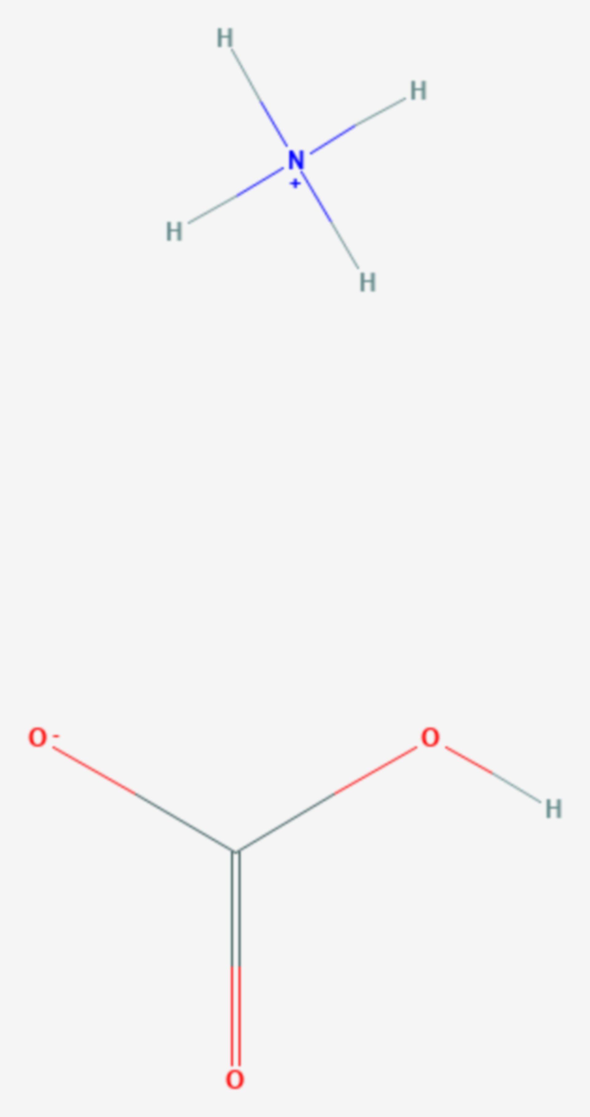 Ammoniumhydrogencarbonat (Strukturformel)