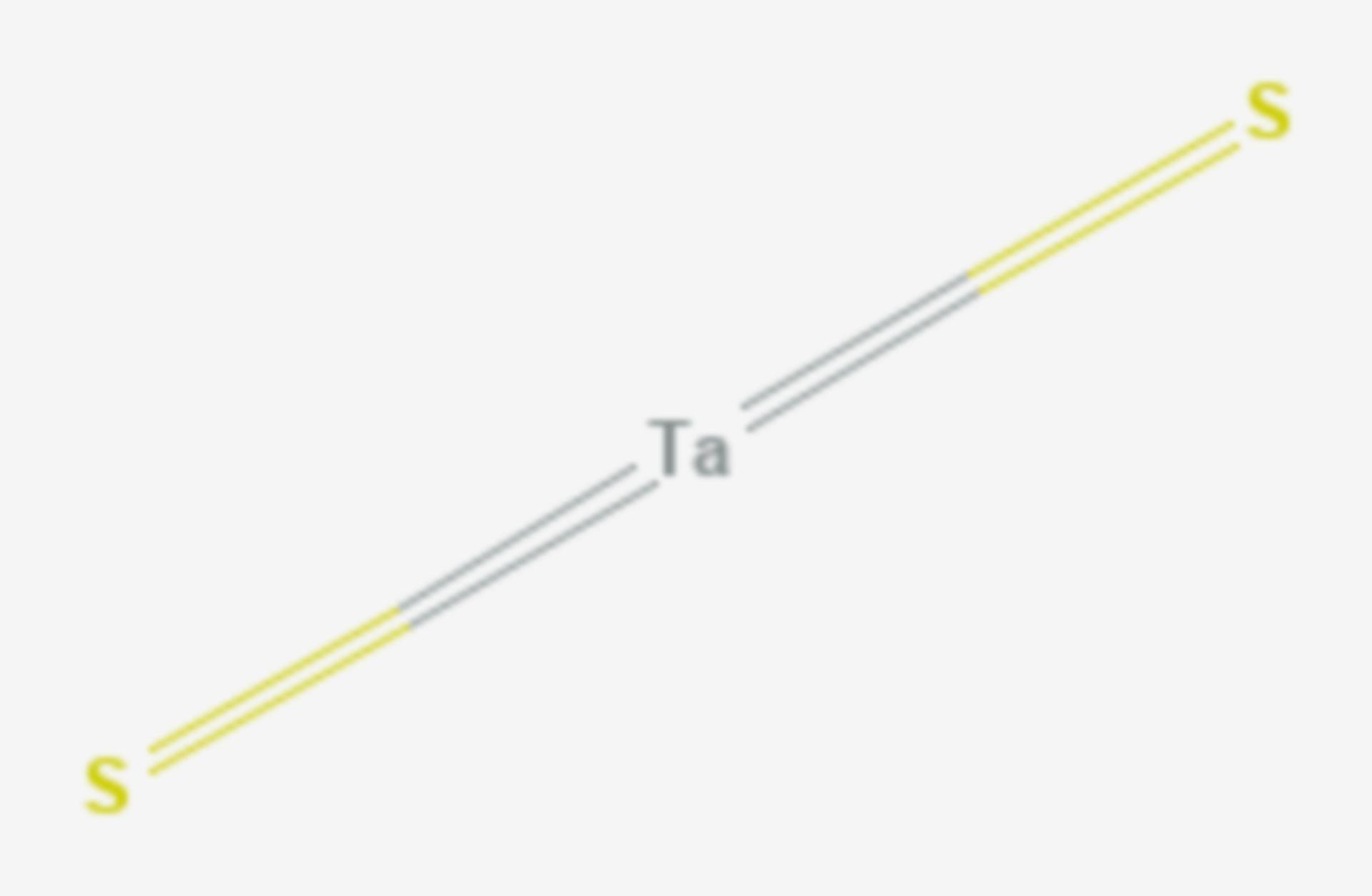 Tantal(IV)-sulfid (Strukturformel)