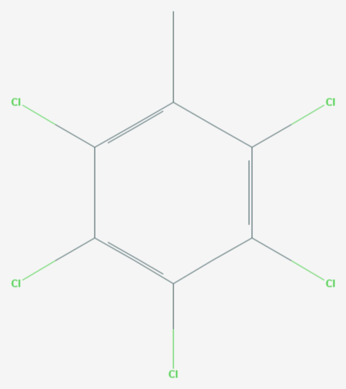 Pentachlortoluol (Strukturformel)