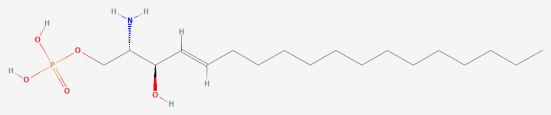 Sphingosin-1-phosphat (Strukturformel)