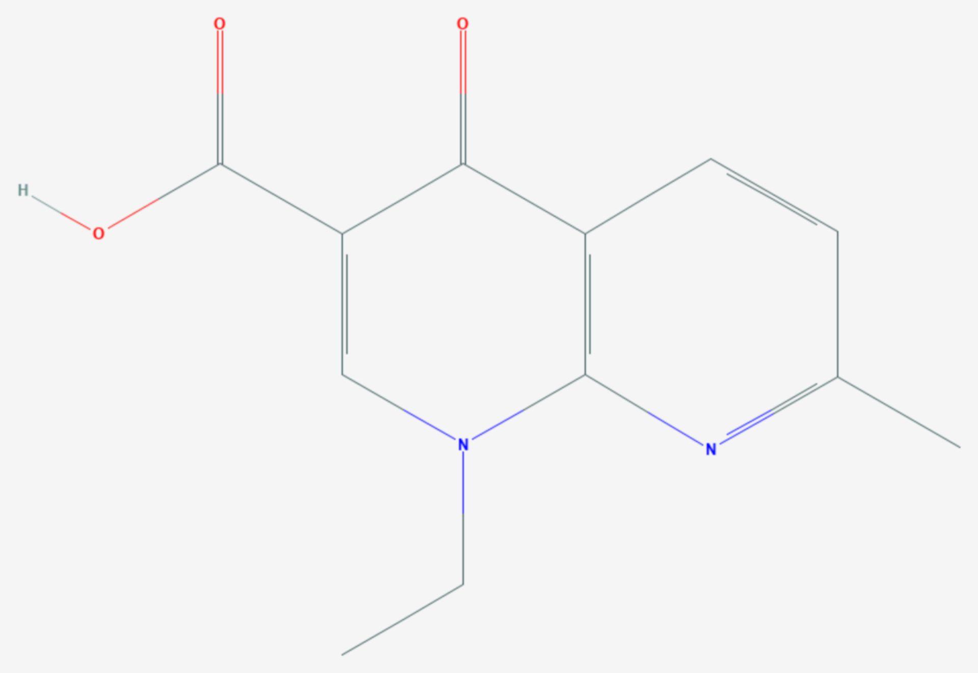 Nalidixinsäure (Strukturformel)
