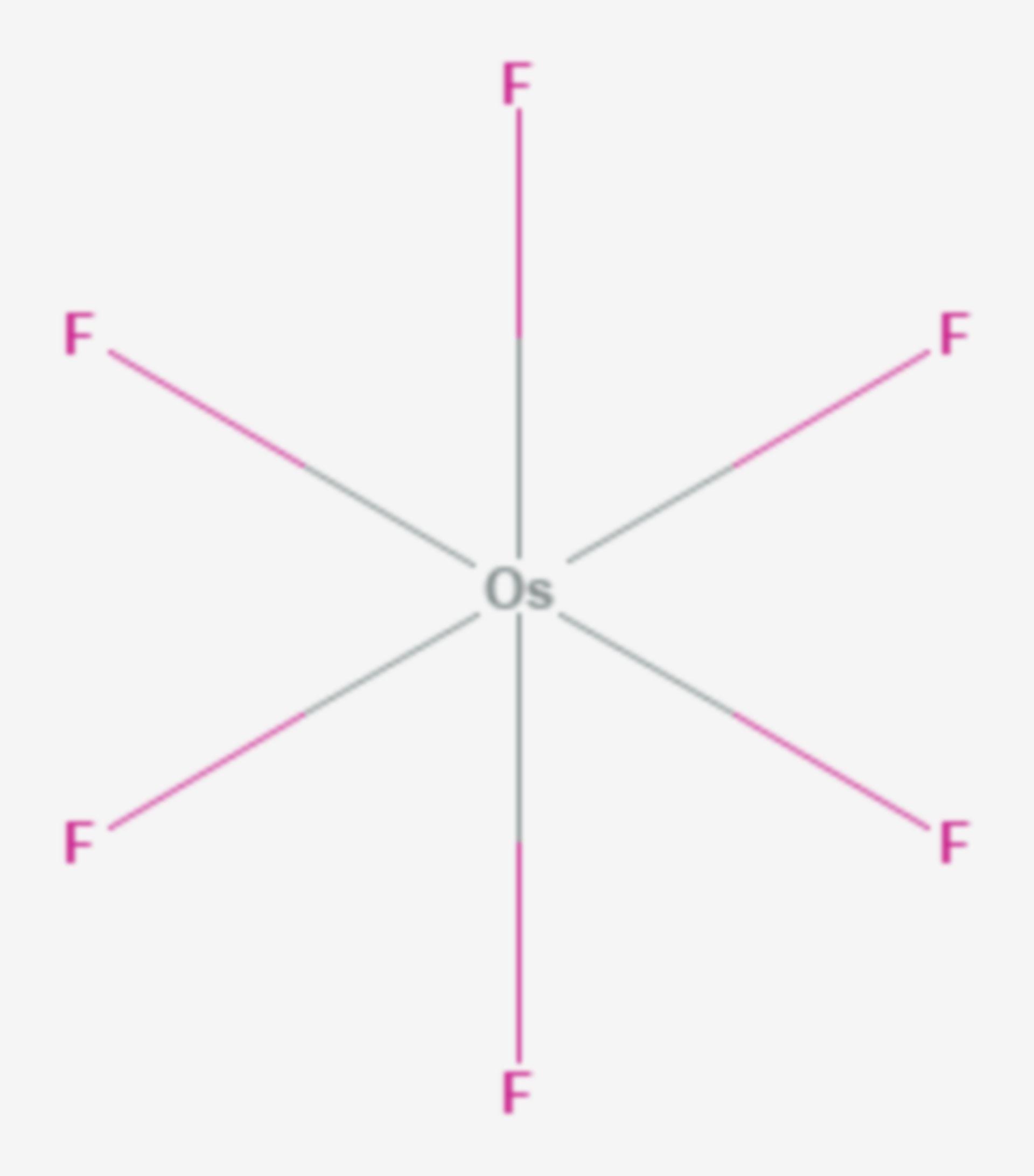 Osmium(VI)-fluorid (Strukturformel)