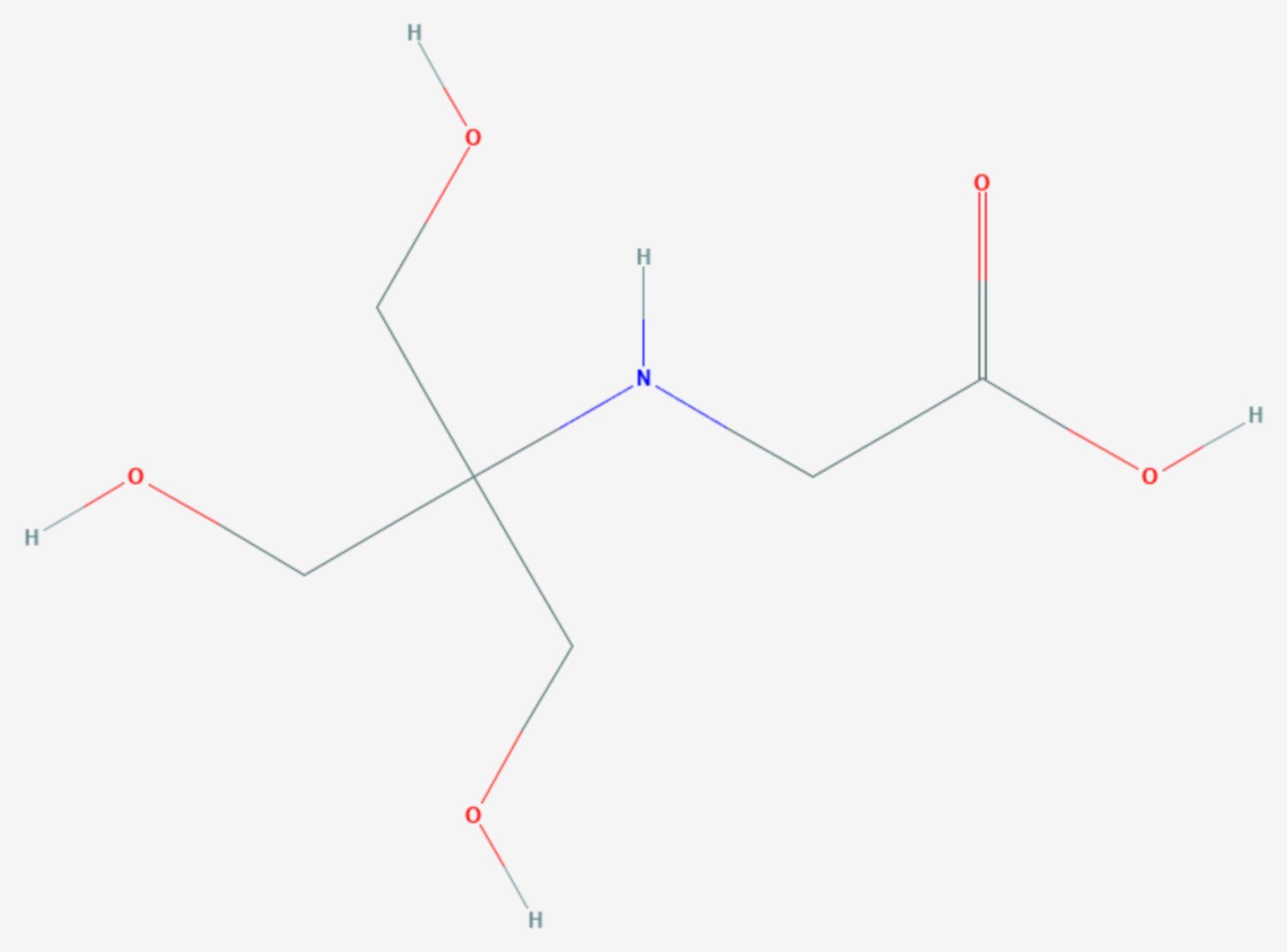 N-(Tri(hydroxymethyl)methyl)glycin (Strukturformel)