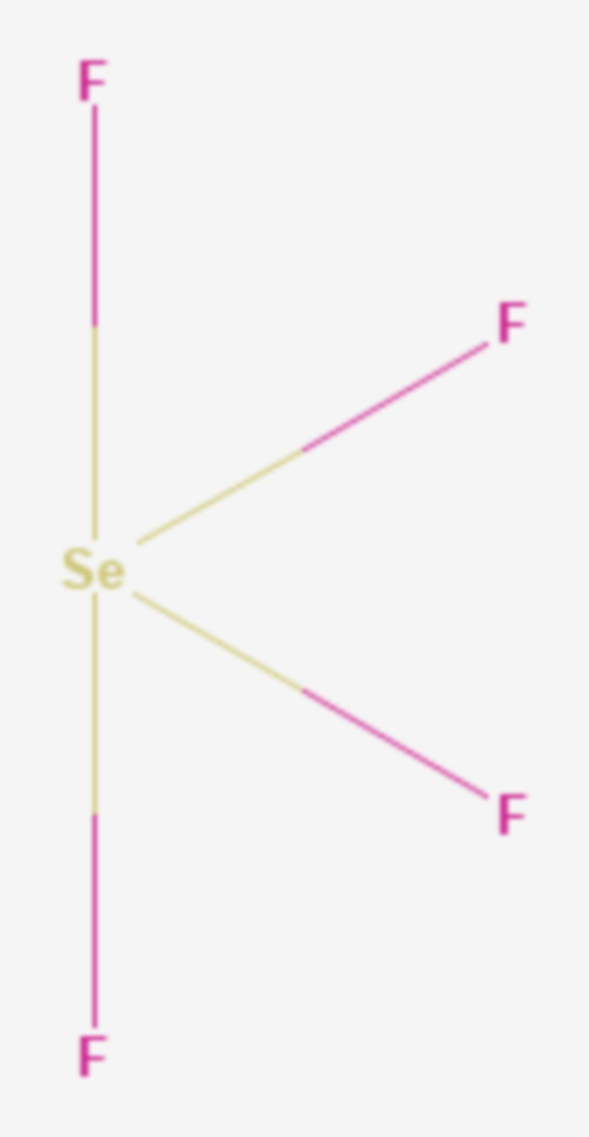 Selentetrafluorid (Strukturformel)