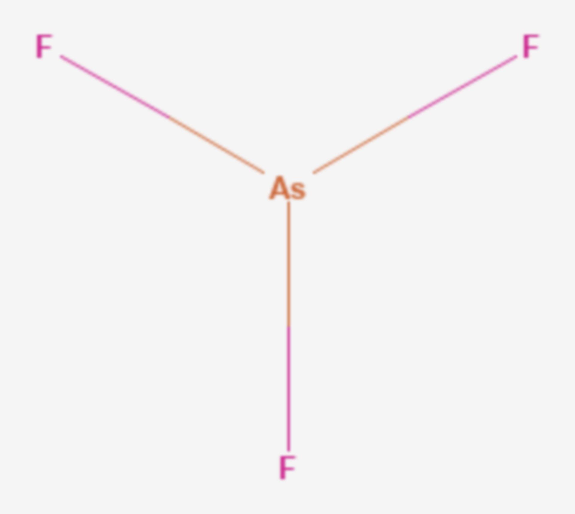 Arsen(III)-fluorid (Strukturformel)