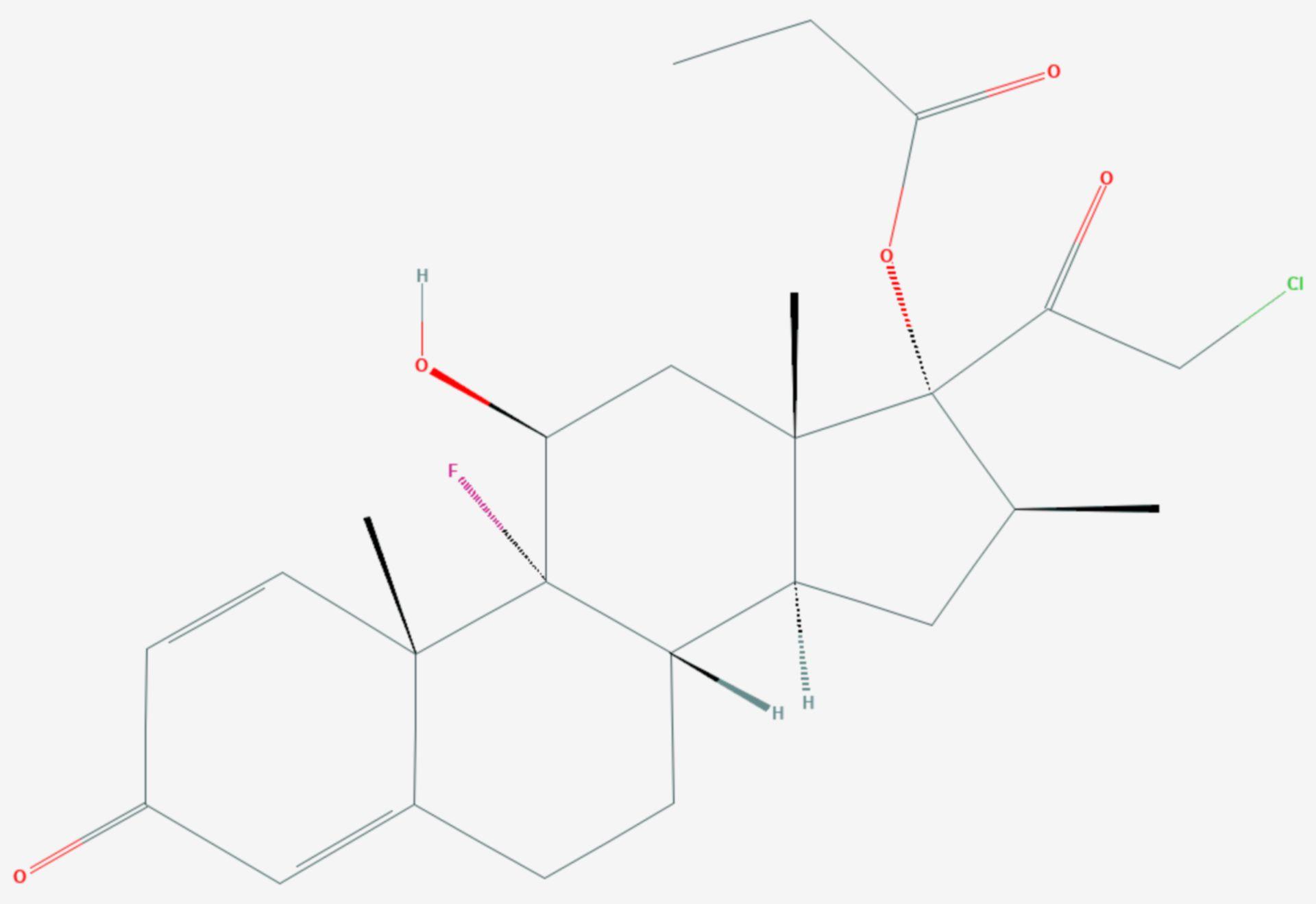 Clobetasolpropionat (Strukturformel)