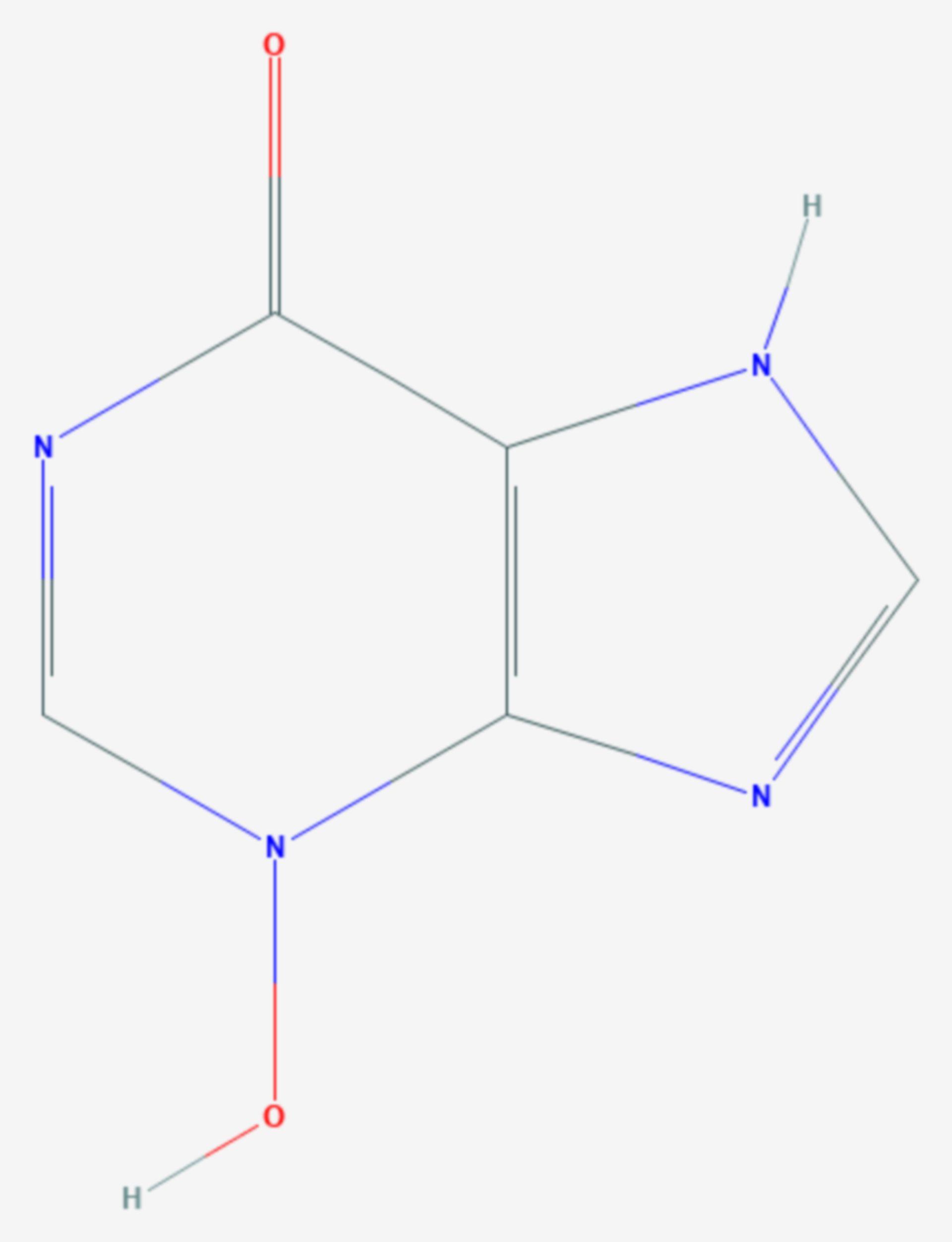 Hypoxanthin-3-N-oxid (Strukturformel)