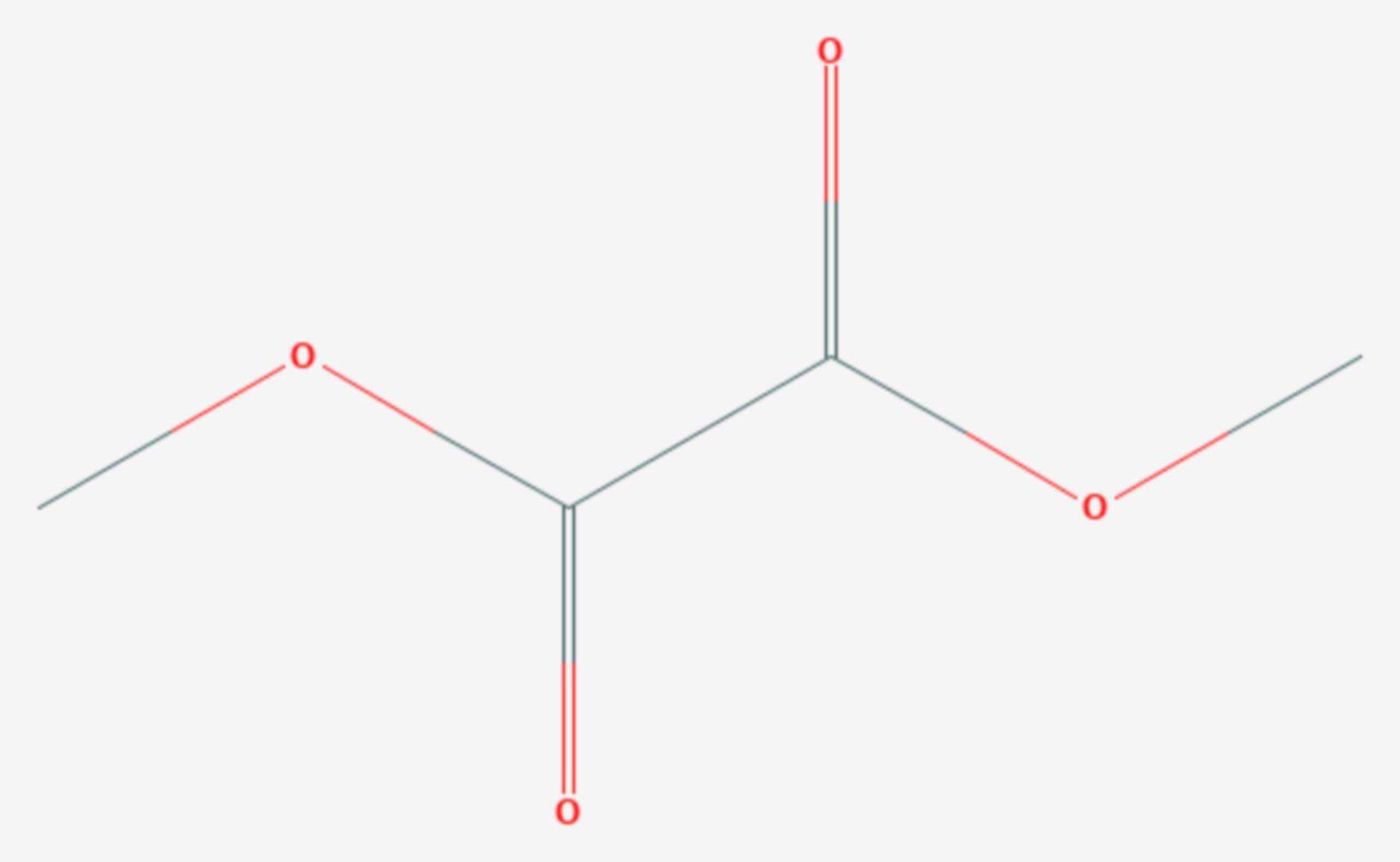 Oxalsäuredimethylester (Strukturformel)