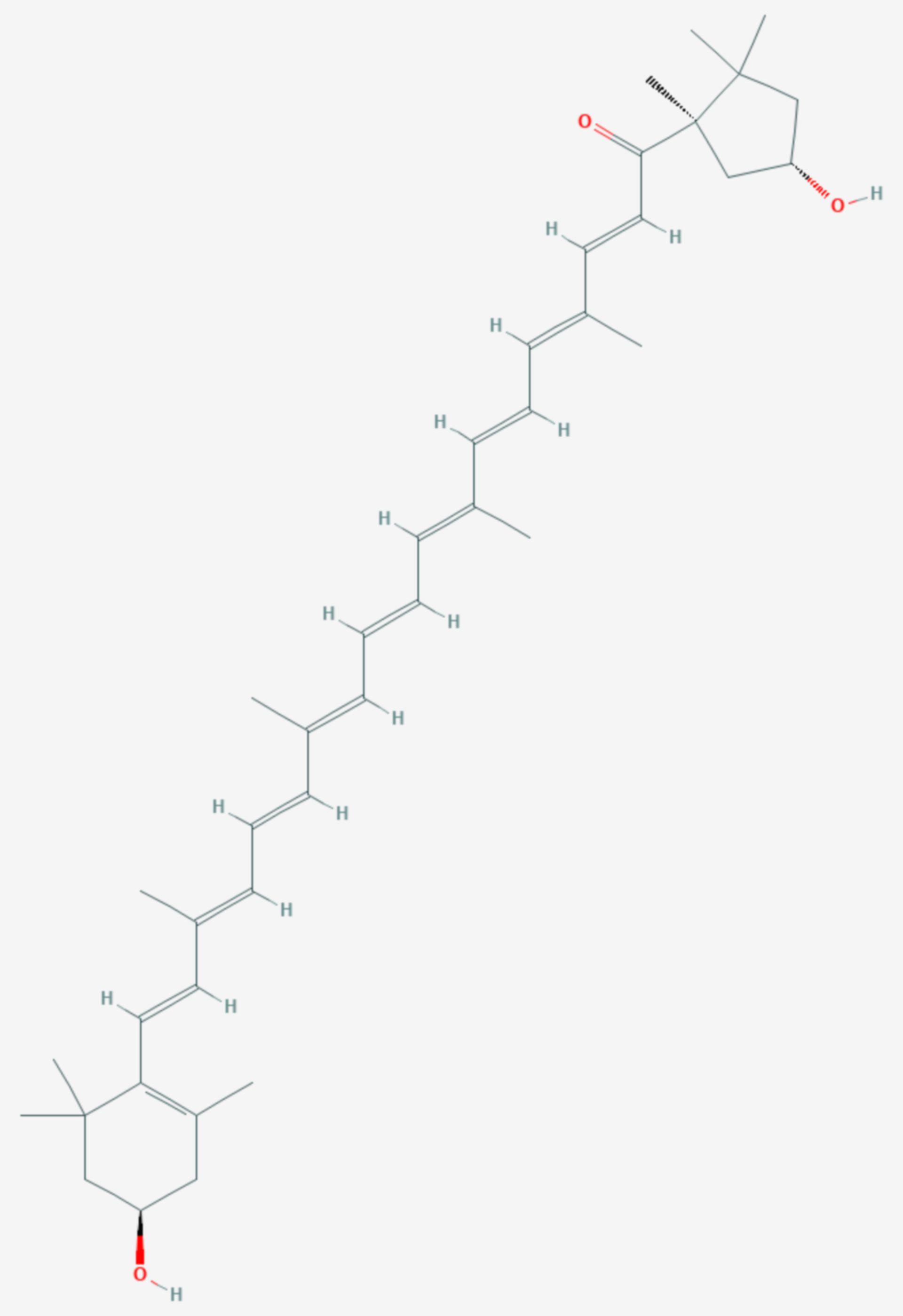 Capsanthin (Strukturformel)