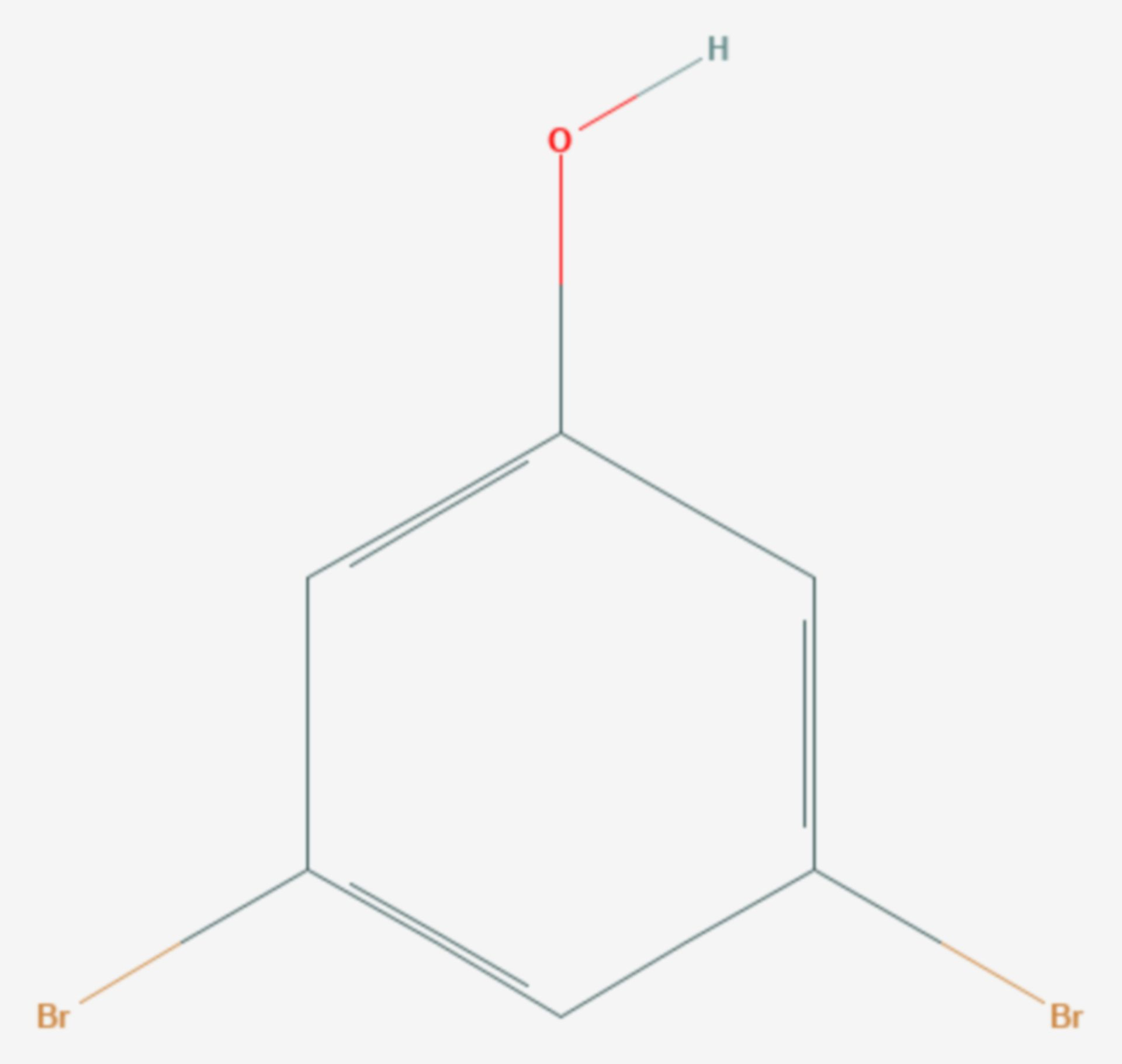 3,5-Dibromphenol (Strukturformel)