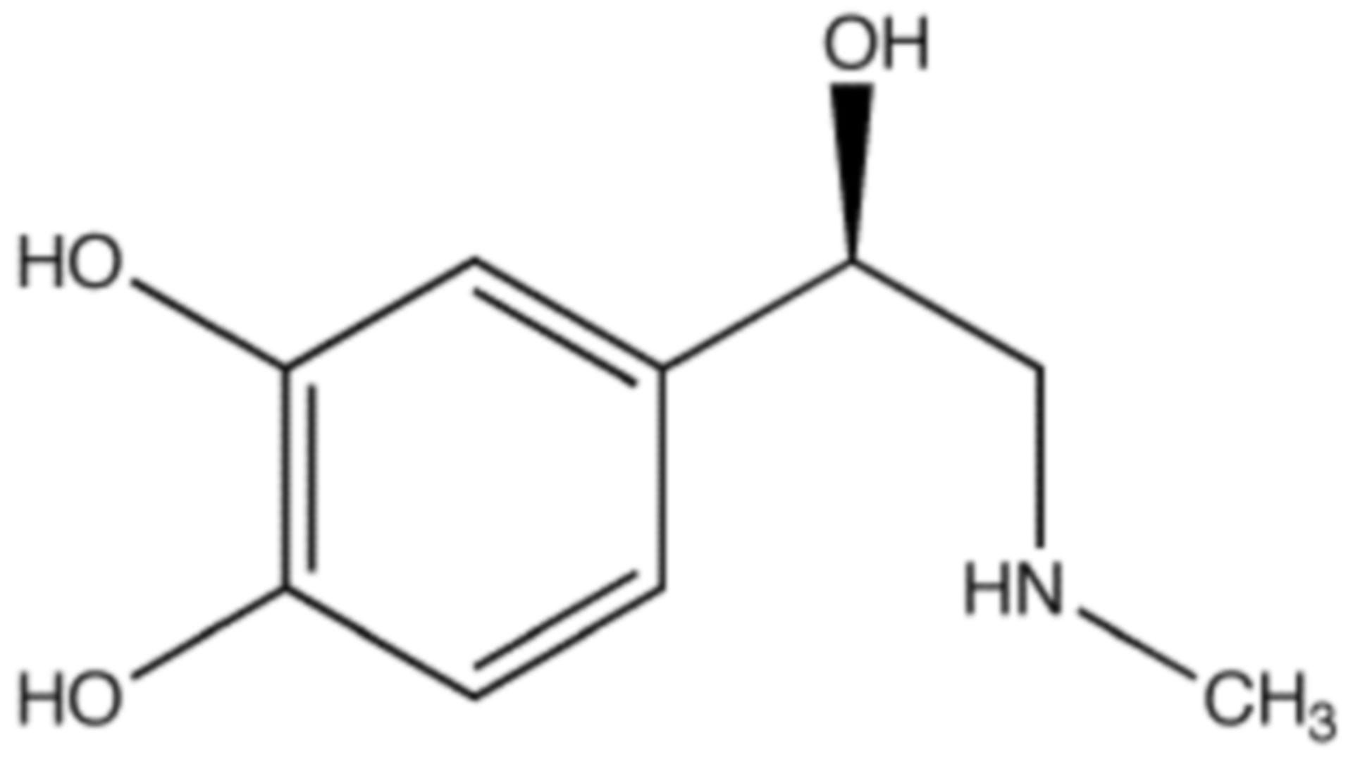 Strukturformel von Adrenalin