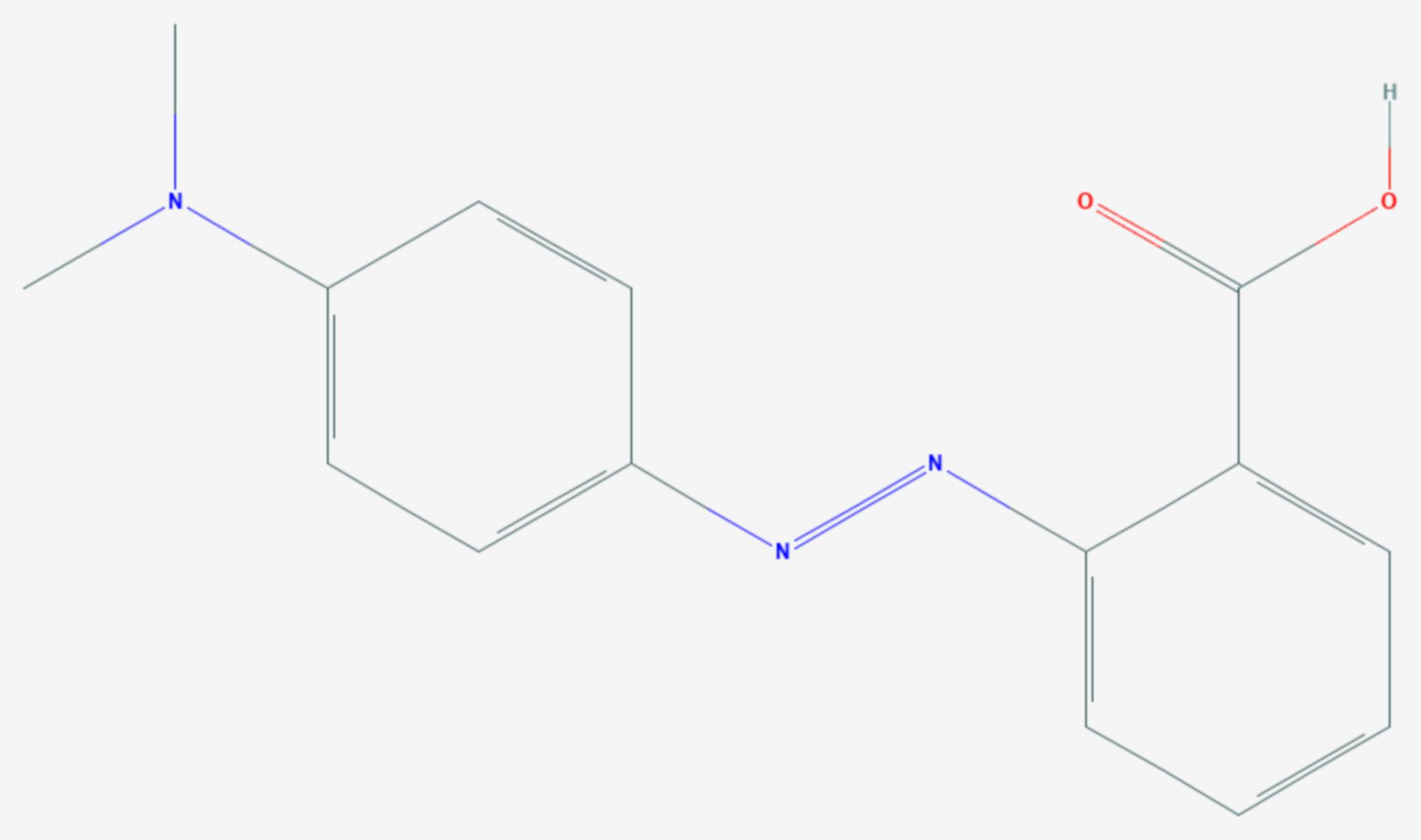 Methylrot (Strukturformel)