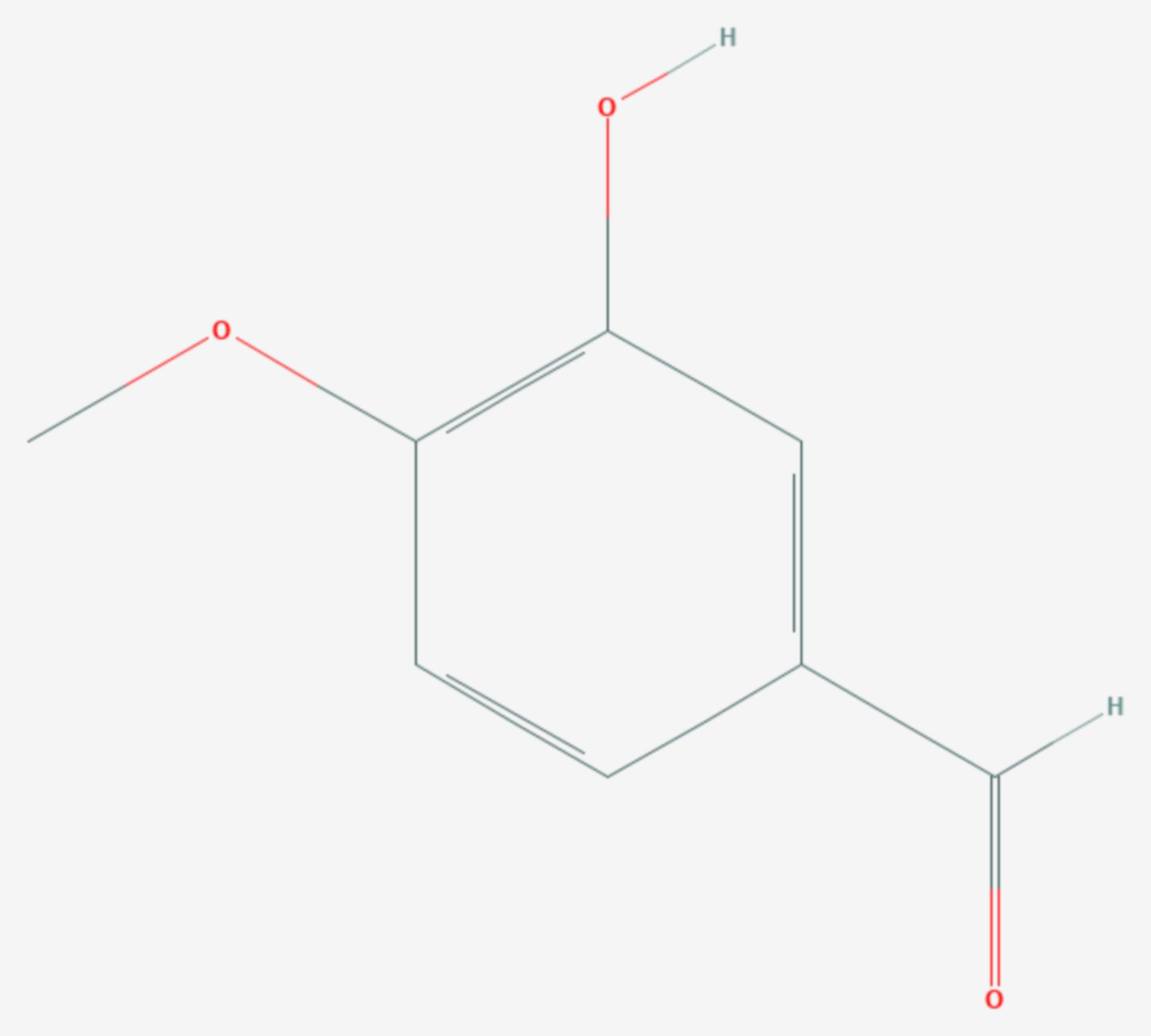 Isovanillin (Strukturformel)