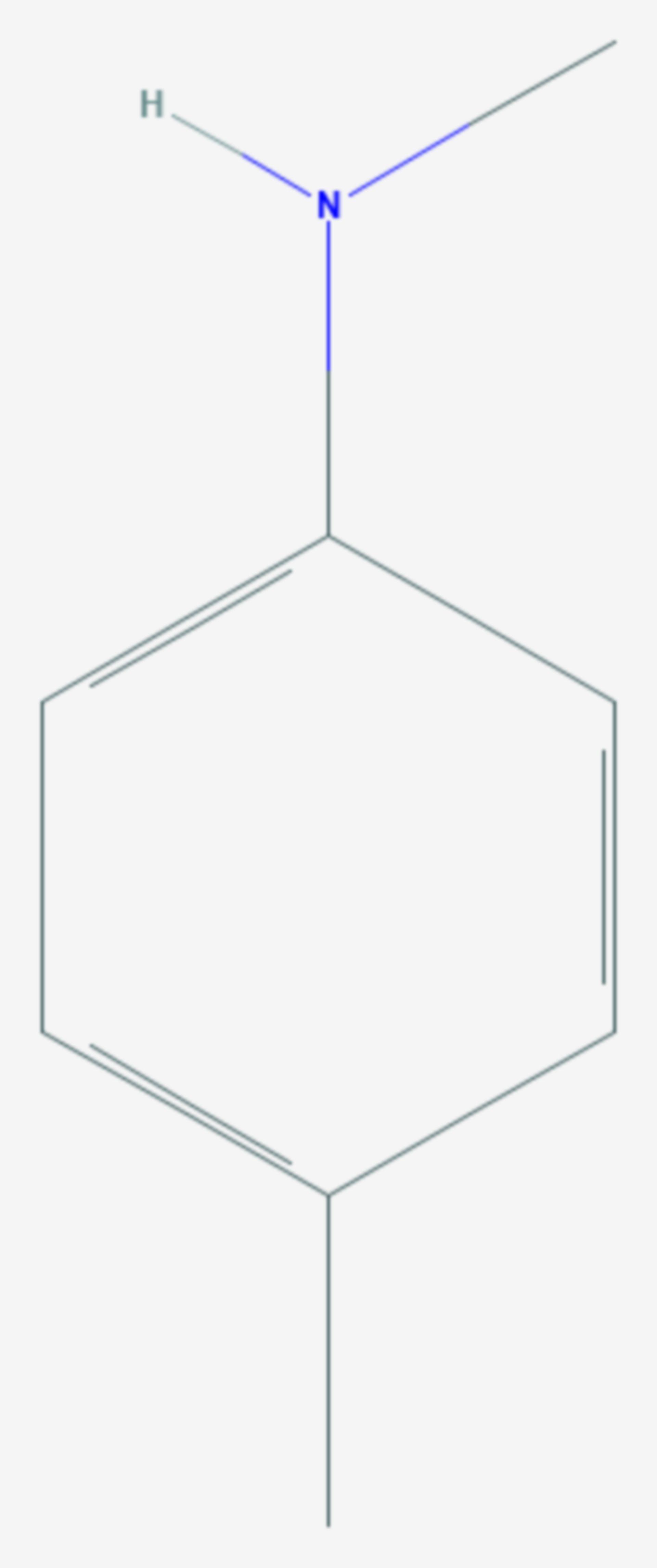 N,4-Dimethylanilin (Strukturformel)