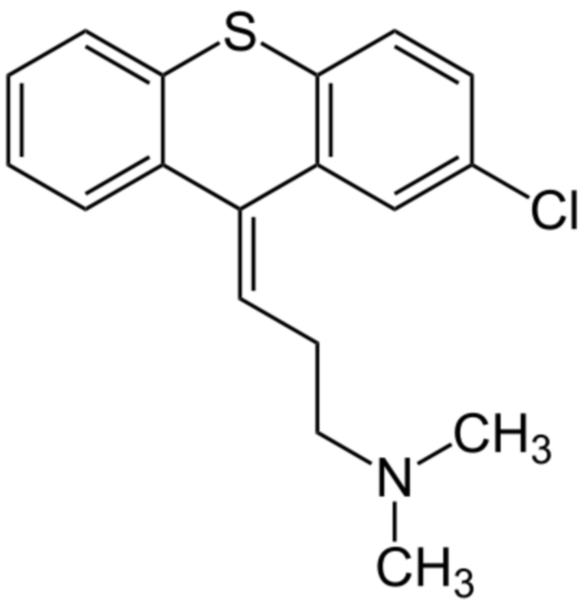 Chlorprothixen Strukturformel
