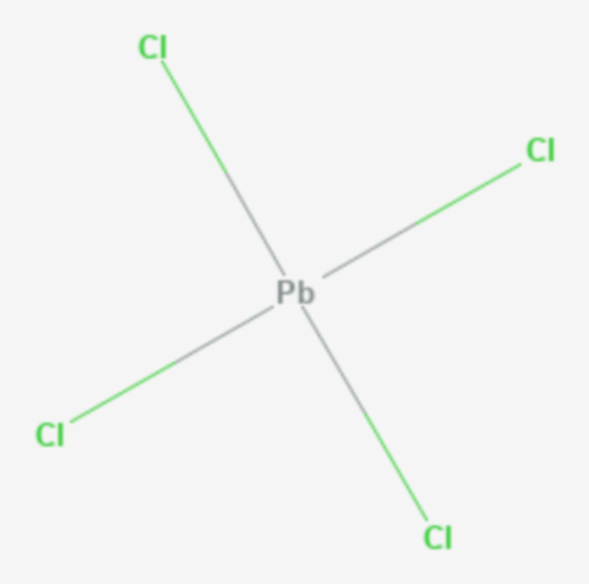 Blei(IV)-chlorid (Strukturformel)