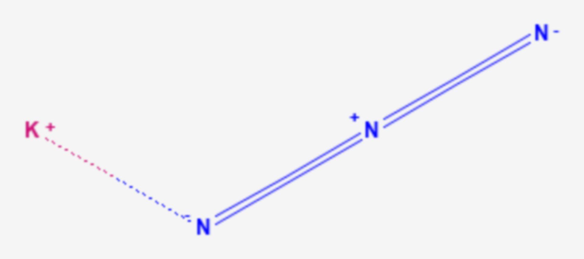 Kaliumazid (Strukturformel)