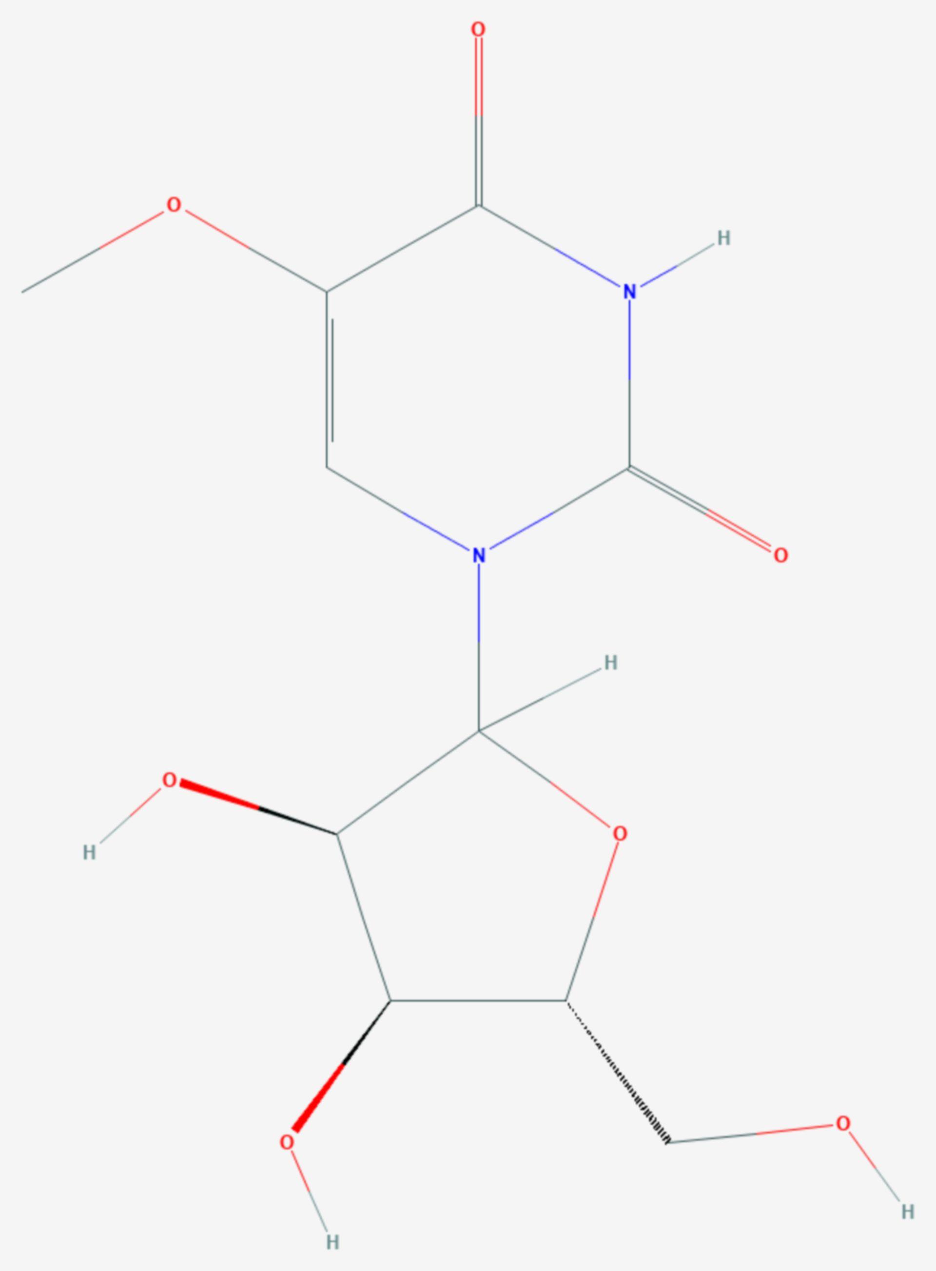 5-Methoxyuridin (Strukturformel)