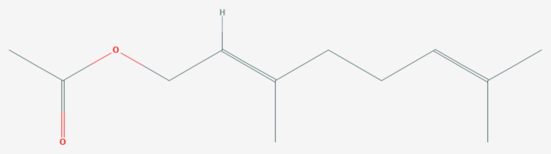 Geranylacetat (Strukturformel)