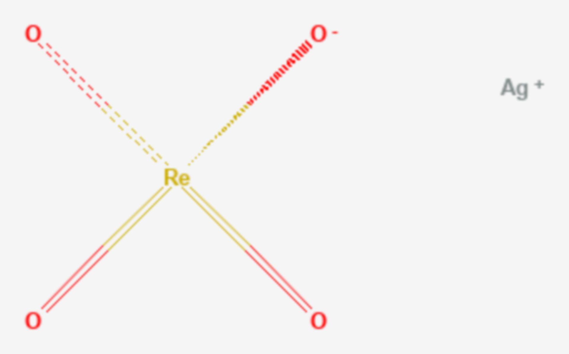Silberperrhenat (Strukturformel)